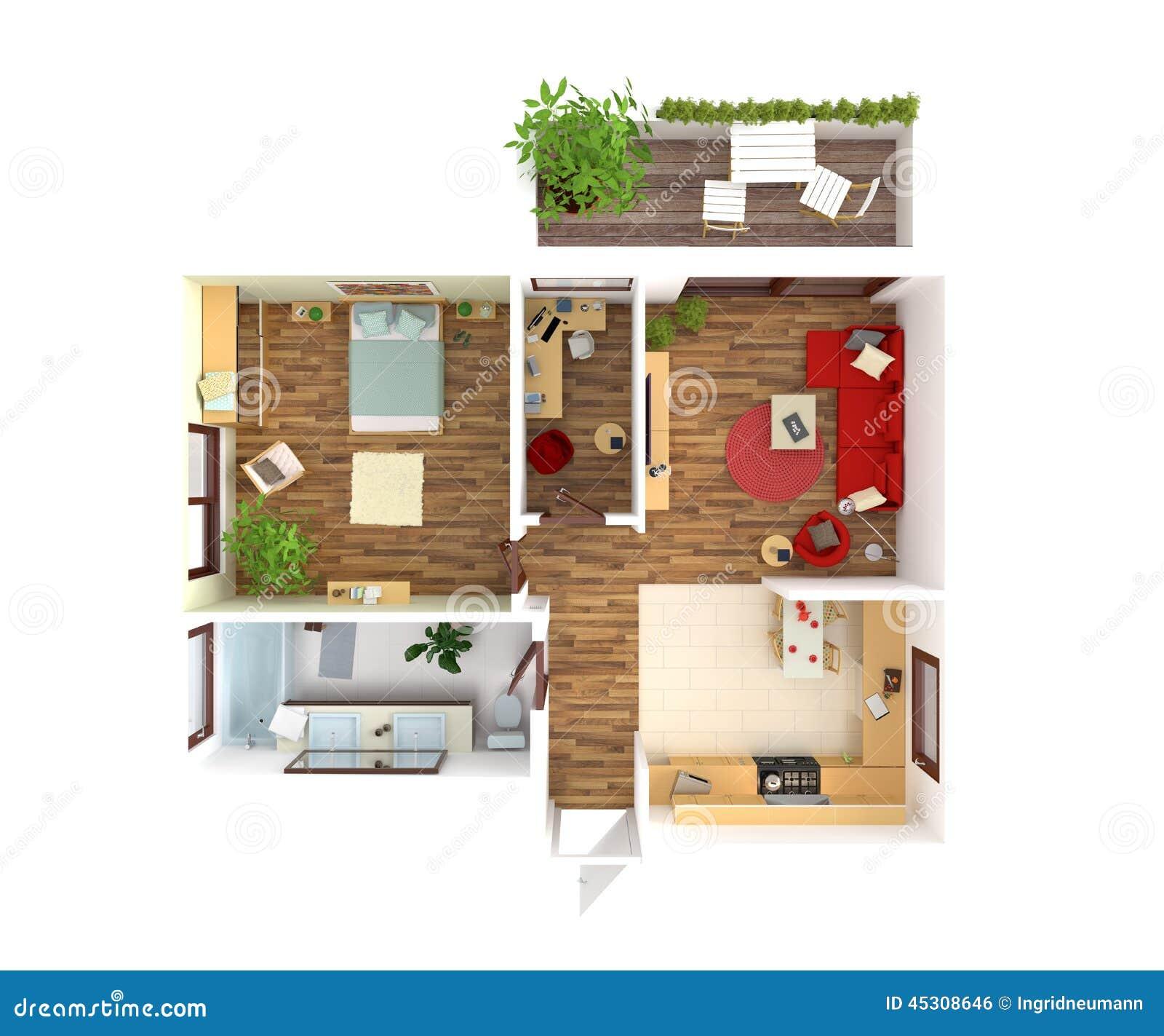 Vista superiore della pianta della casa interior design for E design della casa
