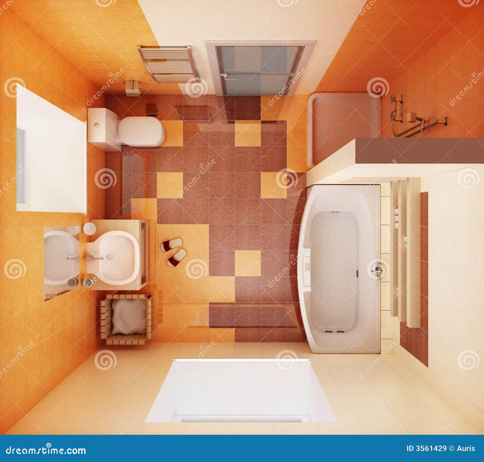 Vista superiore della stanza da bagno