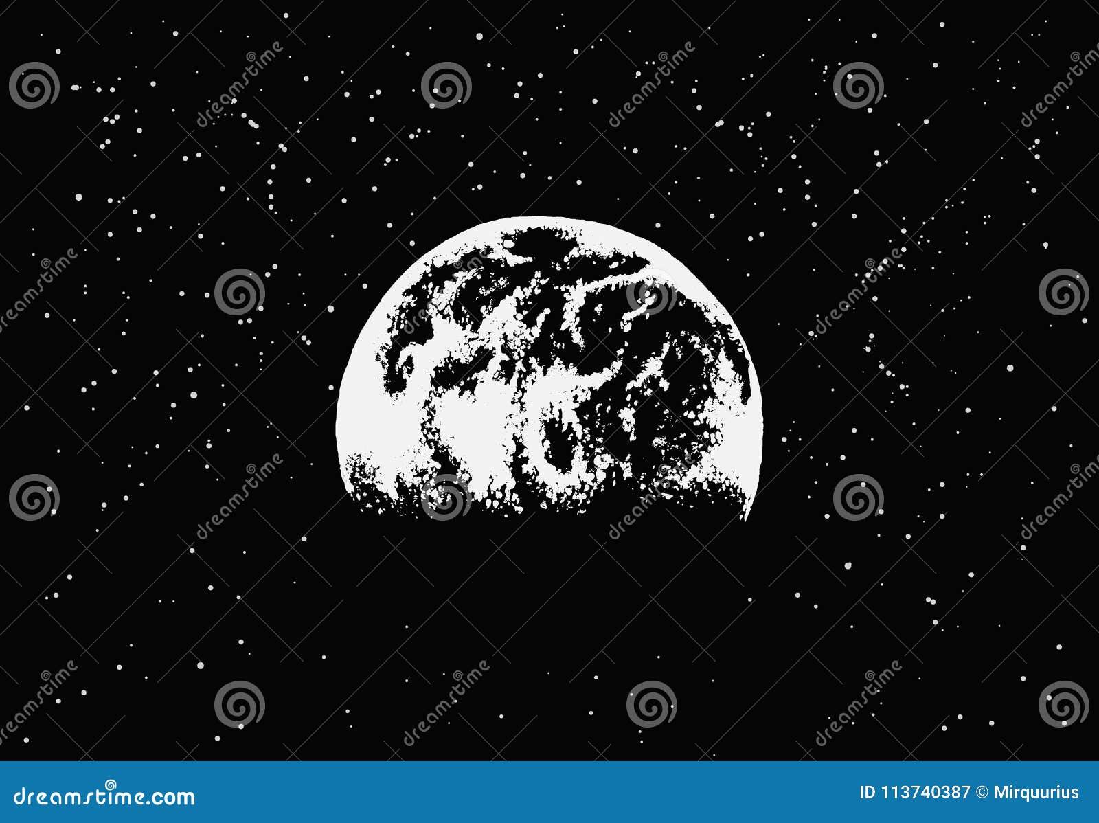 Vista a terra nello spazio cosmico