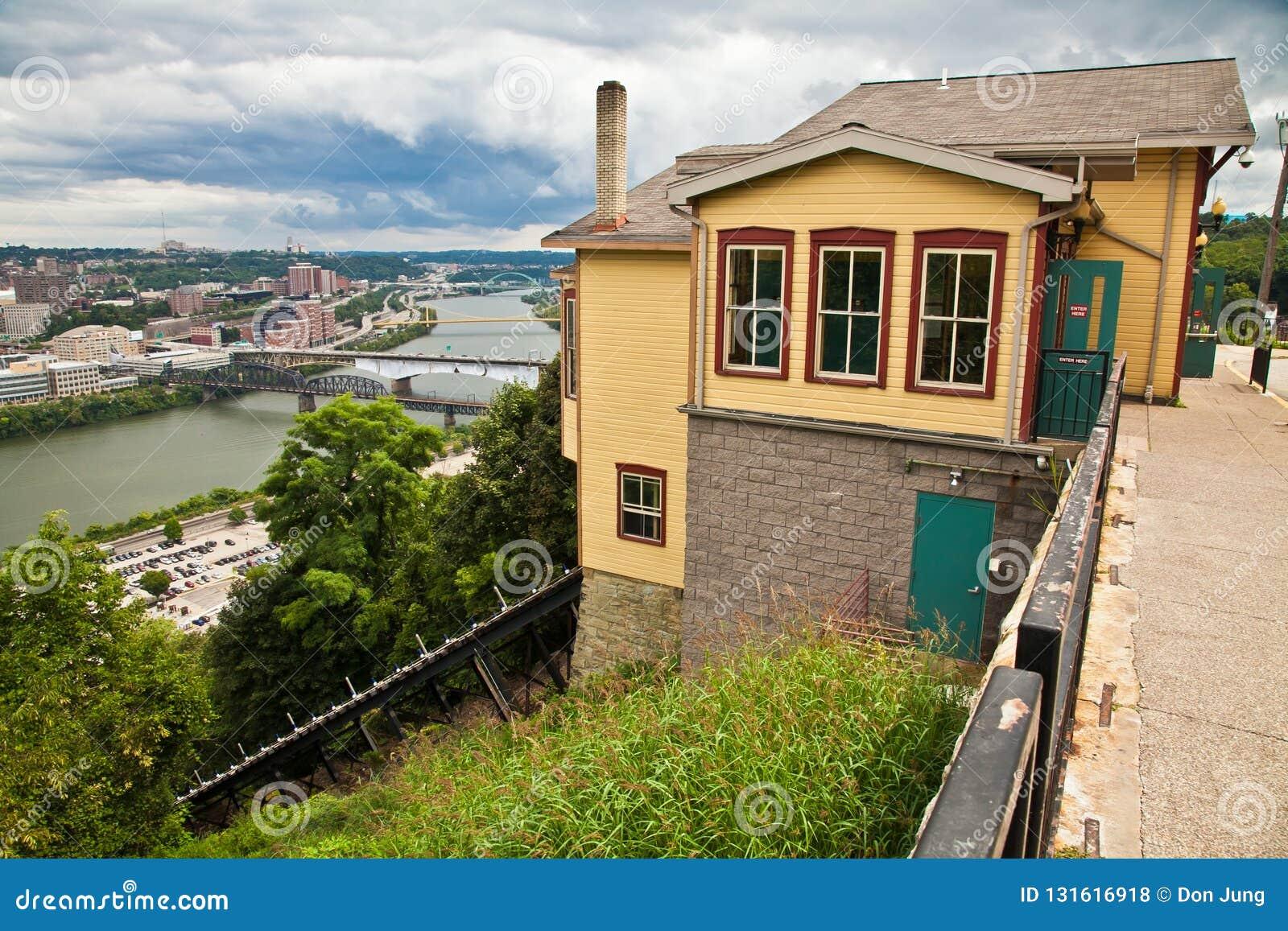 Vistas de Pittsburgh Pennsylvania del edificio de la tranvía de Duquesne