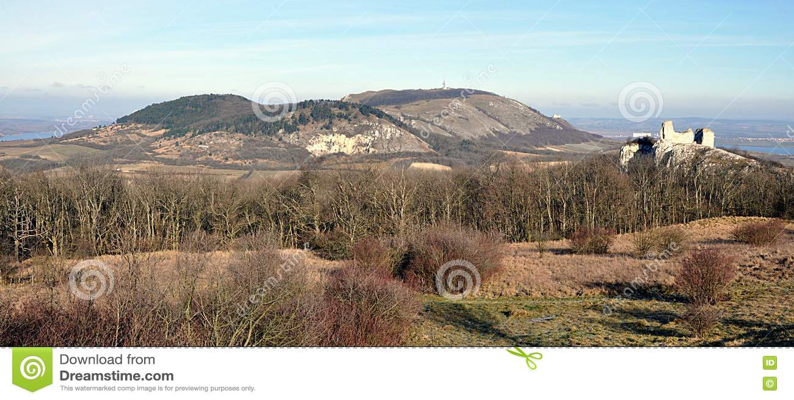 Vistas panorâmicas, paisagem Palava, República Checa, Europa