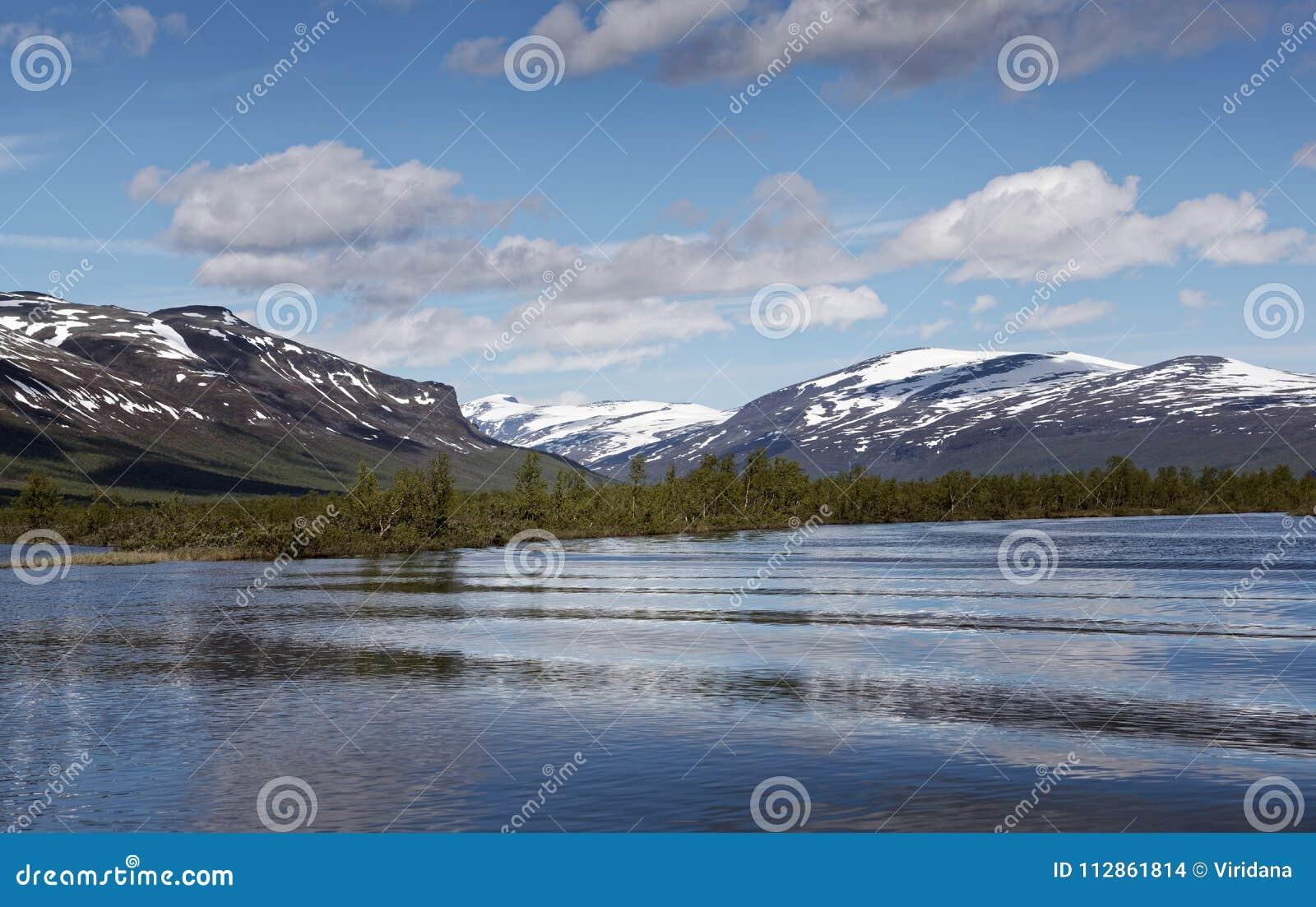 Vistasvagge vicino a Nikkaloukta in Svezia del Nord