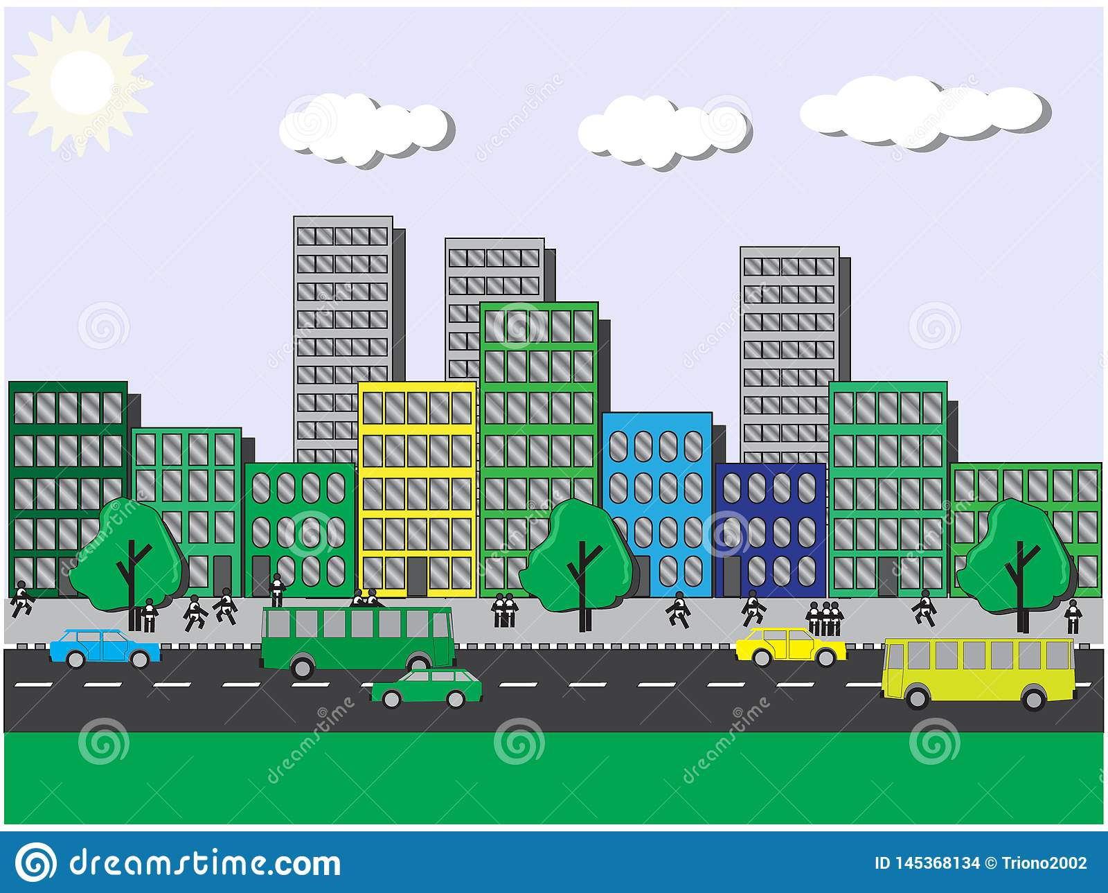 Viste del ‹del †del ‹del †della città un giorno soleggiato