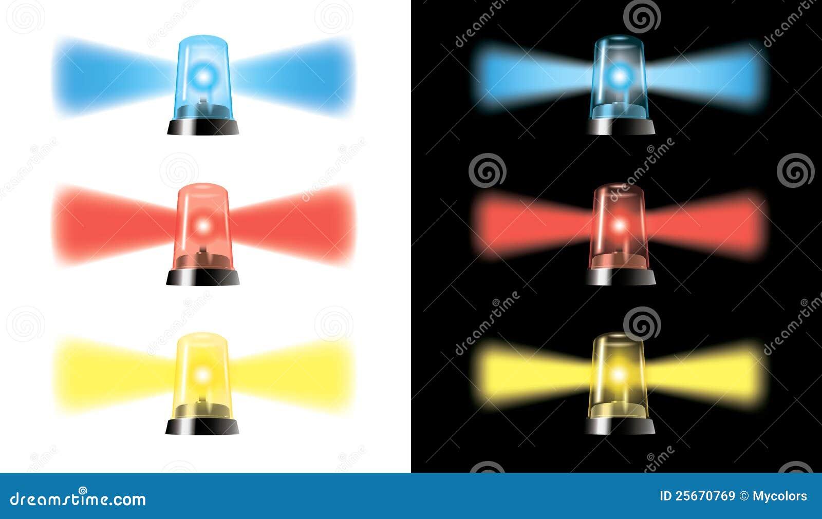 Visual Warning Lights - Special Cars Signal - Eps Stock