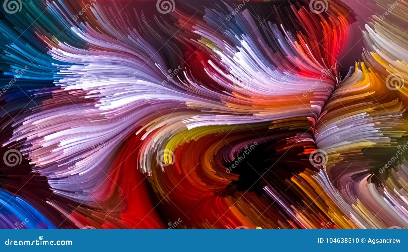 Download Visualisatie Van Vloeibare Kleur Stock Illustratie - Illustratie bestaande uit samenvatting, kleur: 104638510