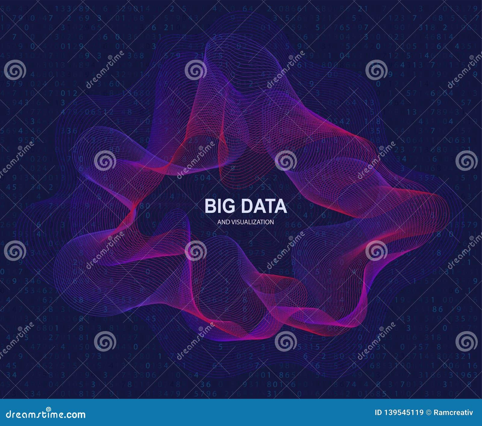 Visualisation circulaire de grandes données, intelligence artificielle Transmission de concept et de données de flux