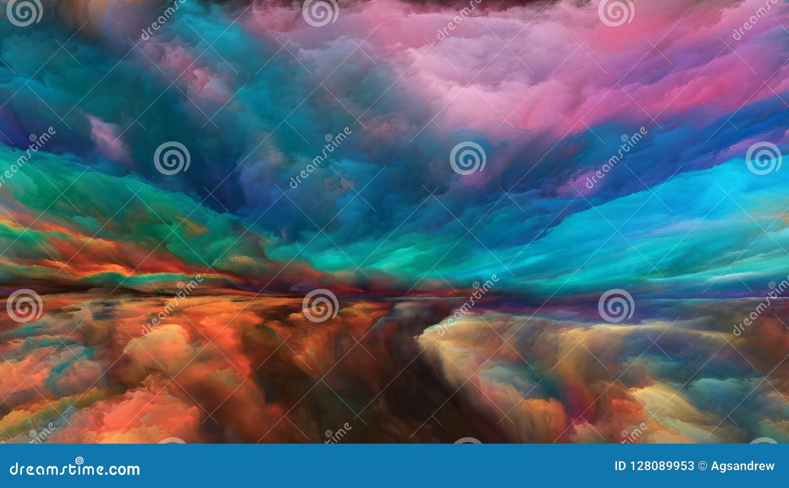 Visualisation de paysage abstrait