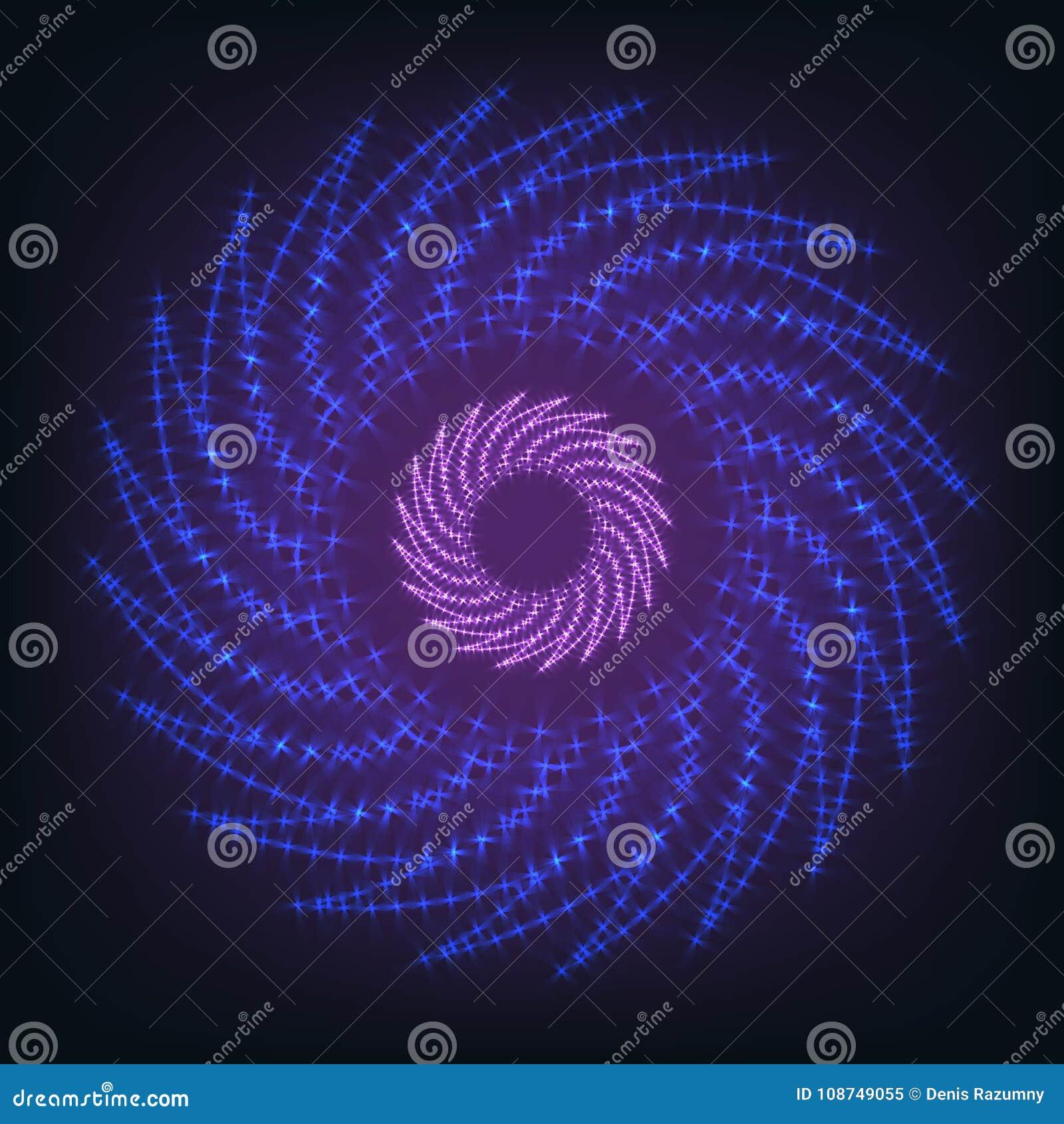Visualização grande dos dados Elemento do Fractal com linhas e disposição dos pontos Conceito do visual da disposição de dados On