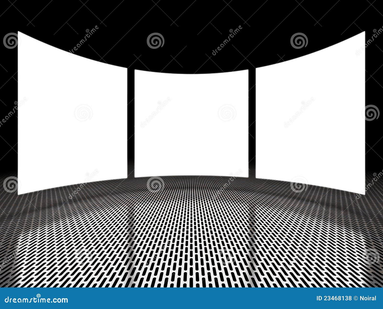 Visualizações ópticas claras vazias