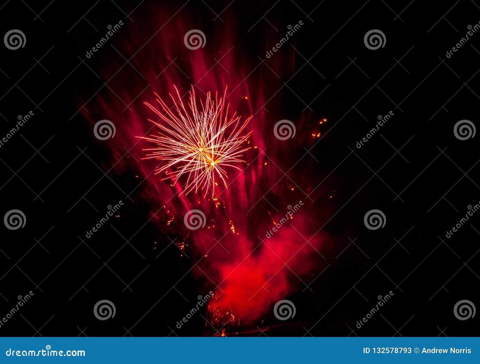 Visualización de los fuegos artificiales