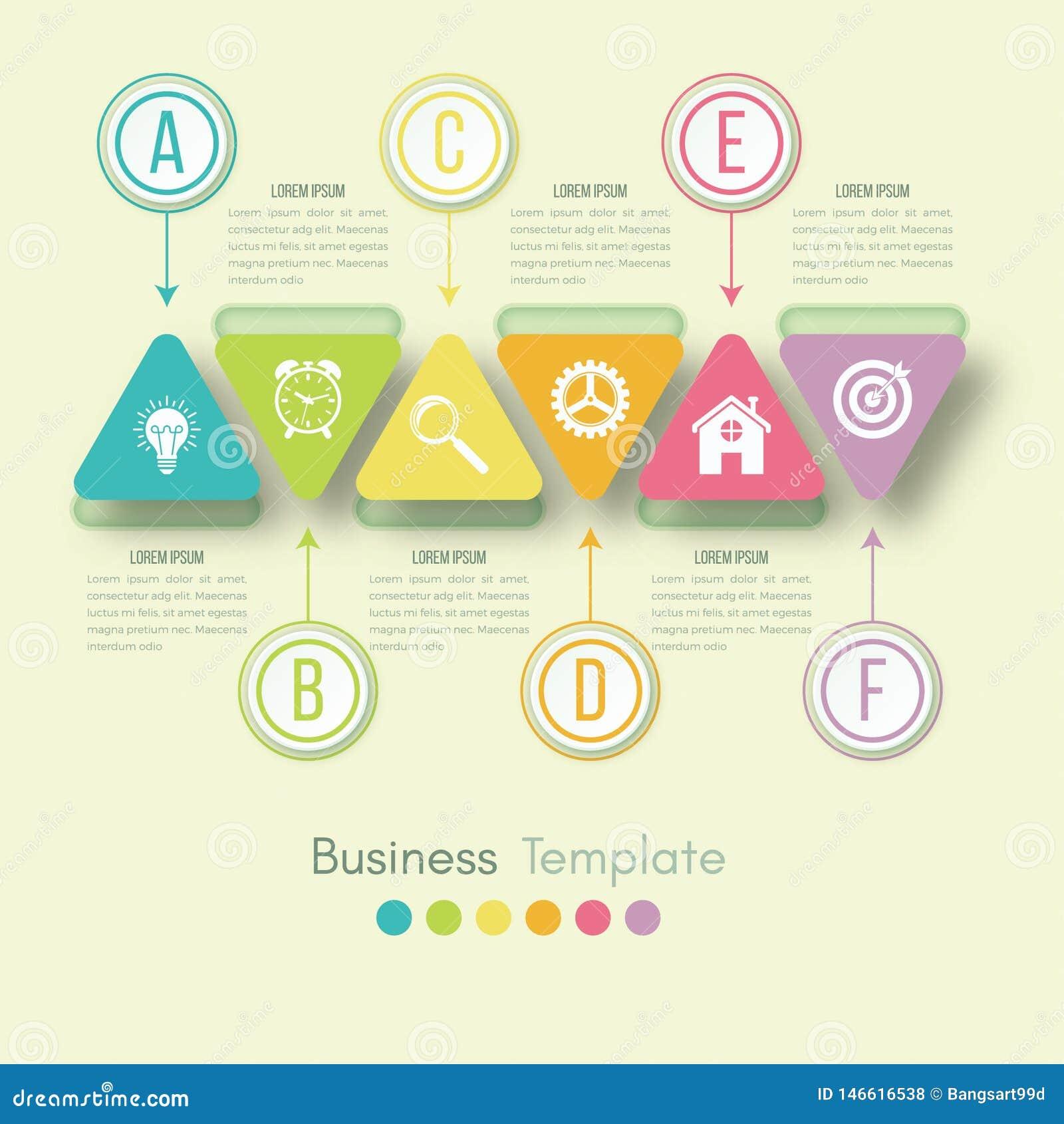 Visualizaci?n de los datos de negocio Carta de proceso Elementos abstractos del gr?fico, del diagrama con pasos, de opciones, de