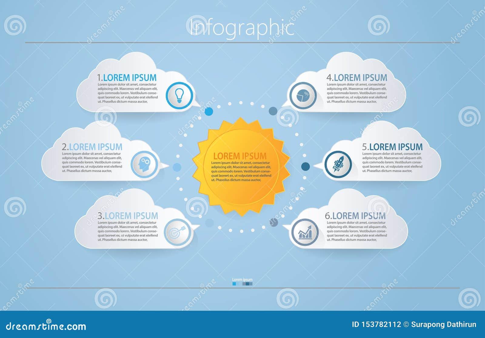 Visualizaci?n de los datos de negocio iconos infographic de la cronolog?a dise?ados para la plantilla abstracta del fondo