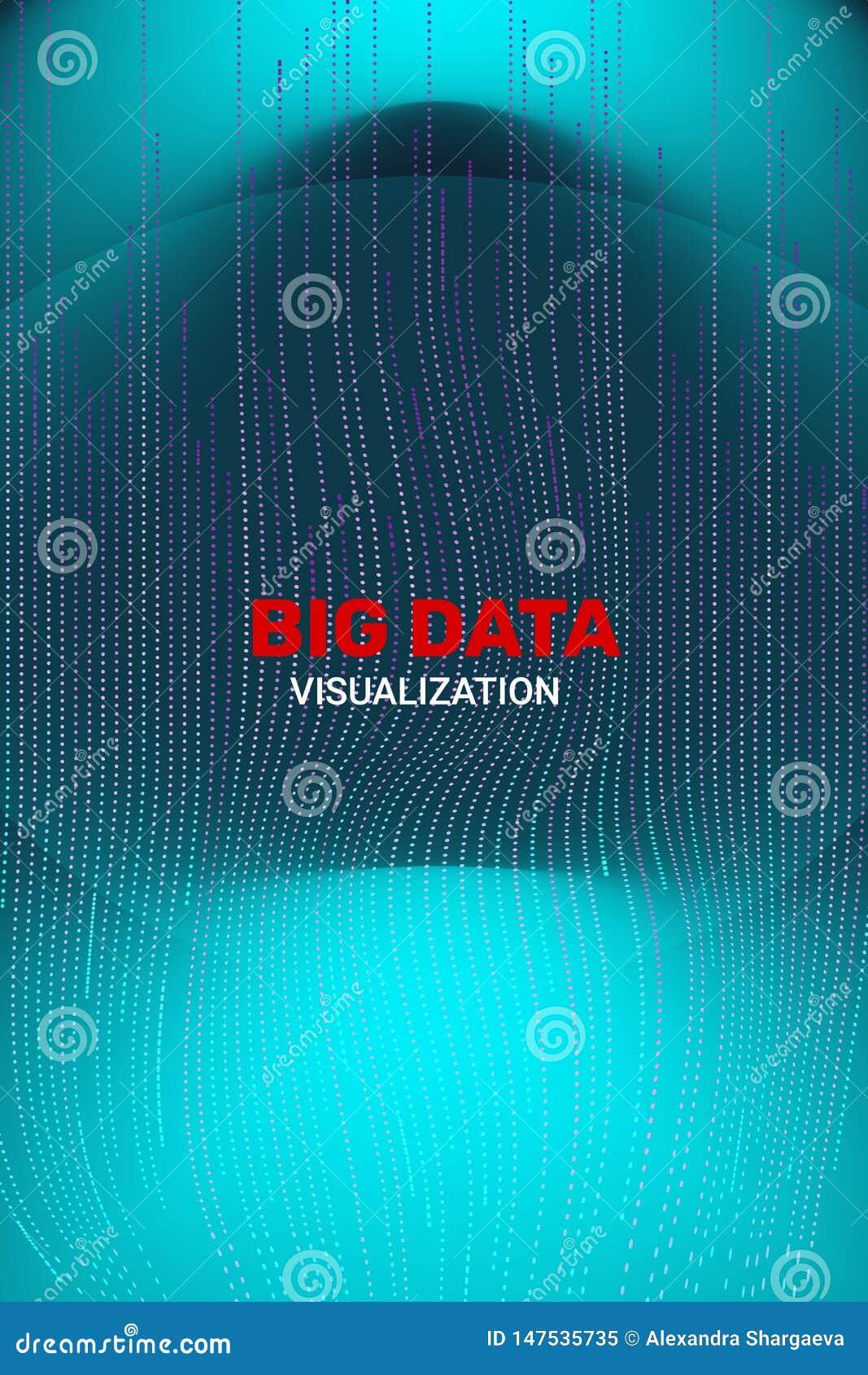 Visualizaci?n grande de los datos informaci?n futurista 3D