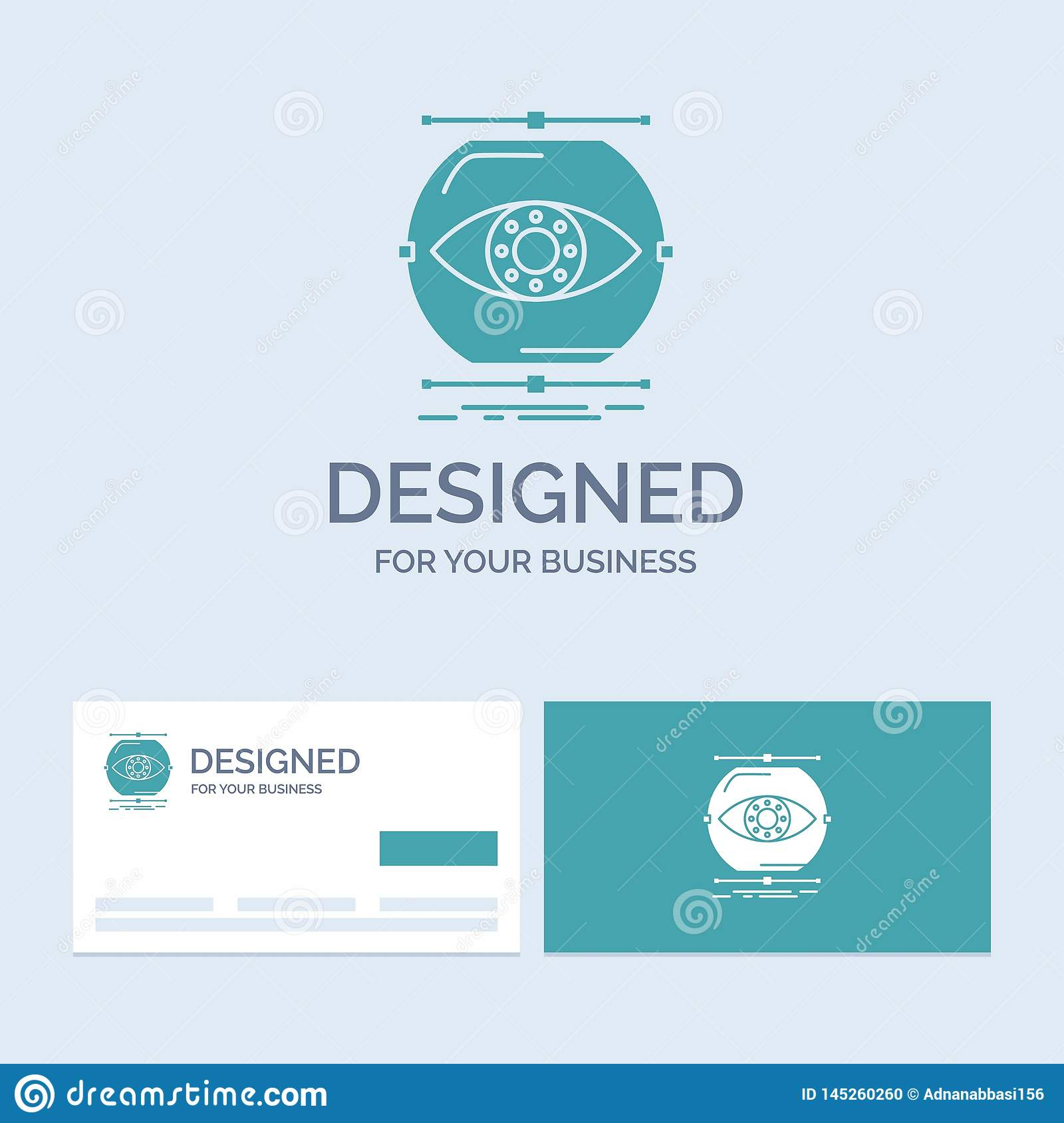 visualize, conception, monitoring, monitoring, vision Business Logo Glyph Icon Symbol for your business. Turquoise Business Cards
