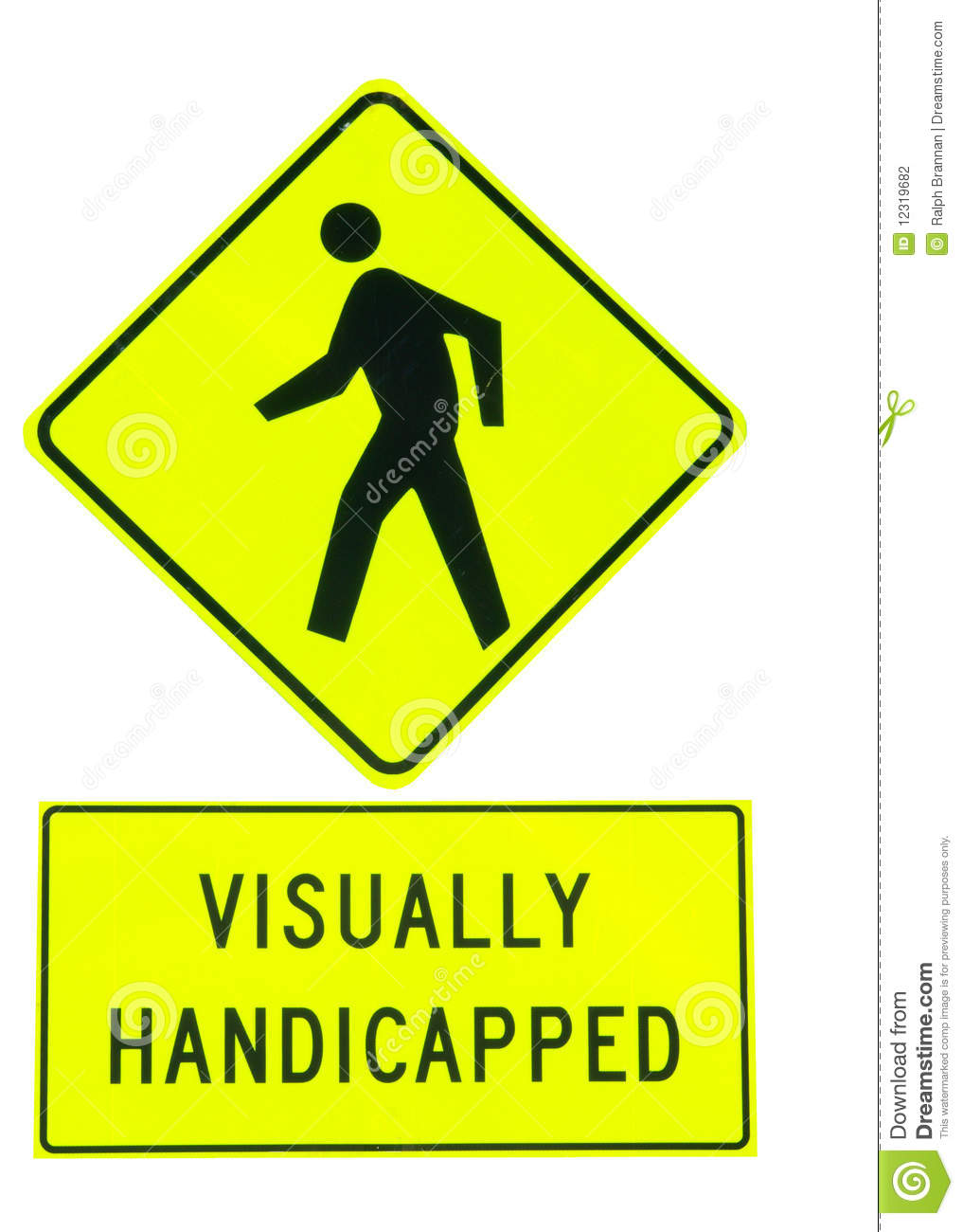 Visually Handicapped Sign Stock Photography Image 12319682