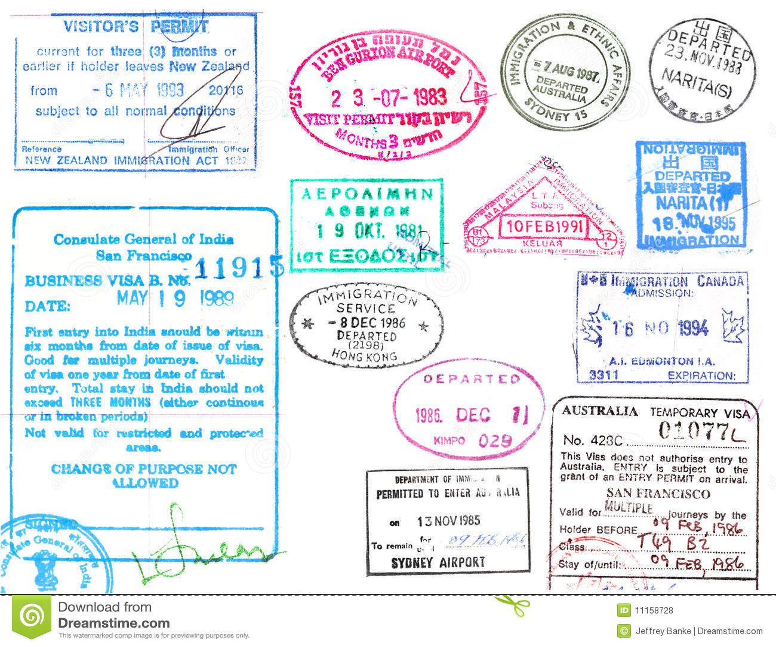 Visum- und Paßstempel