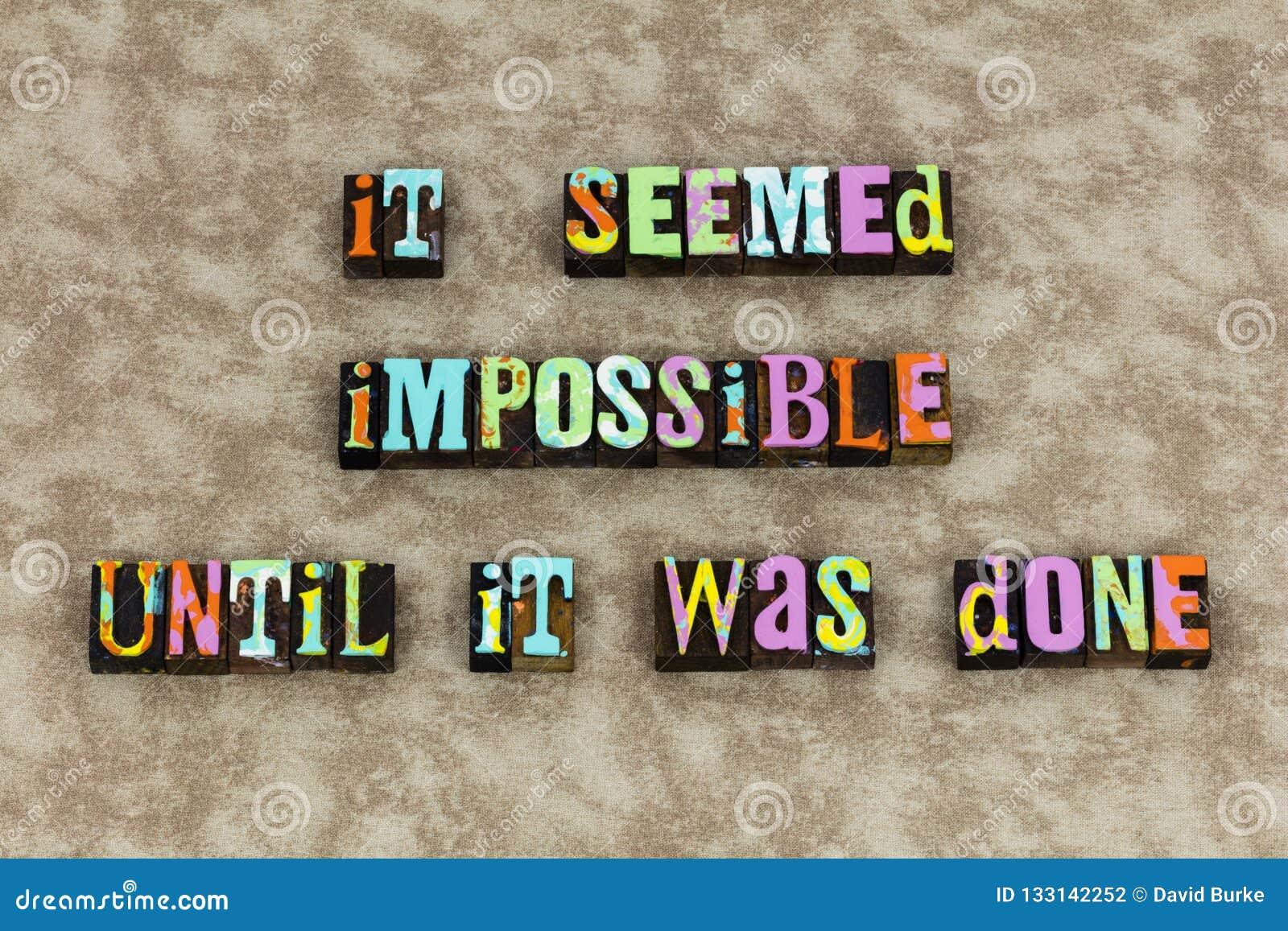 Vitória possível impossível do foco do sucesso