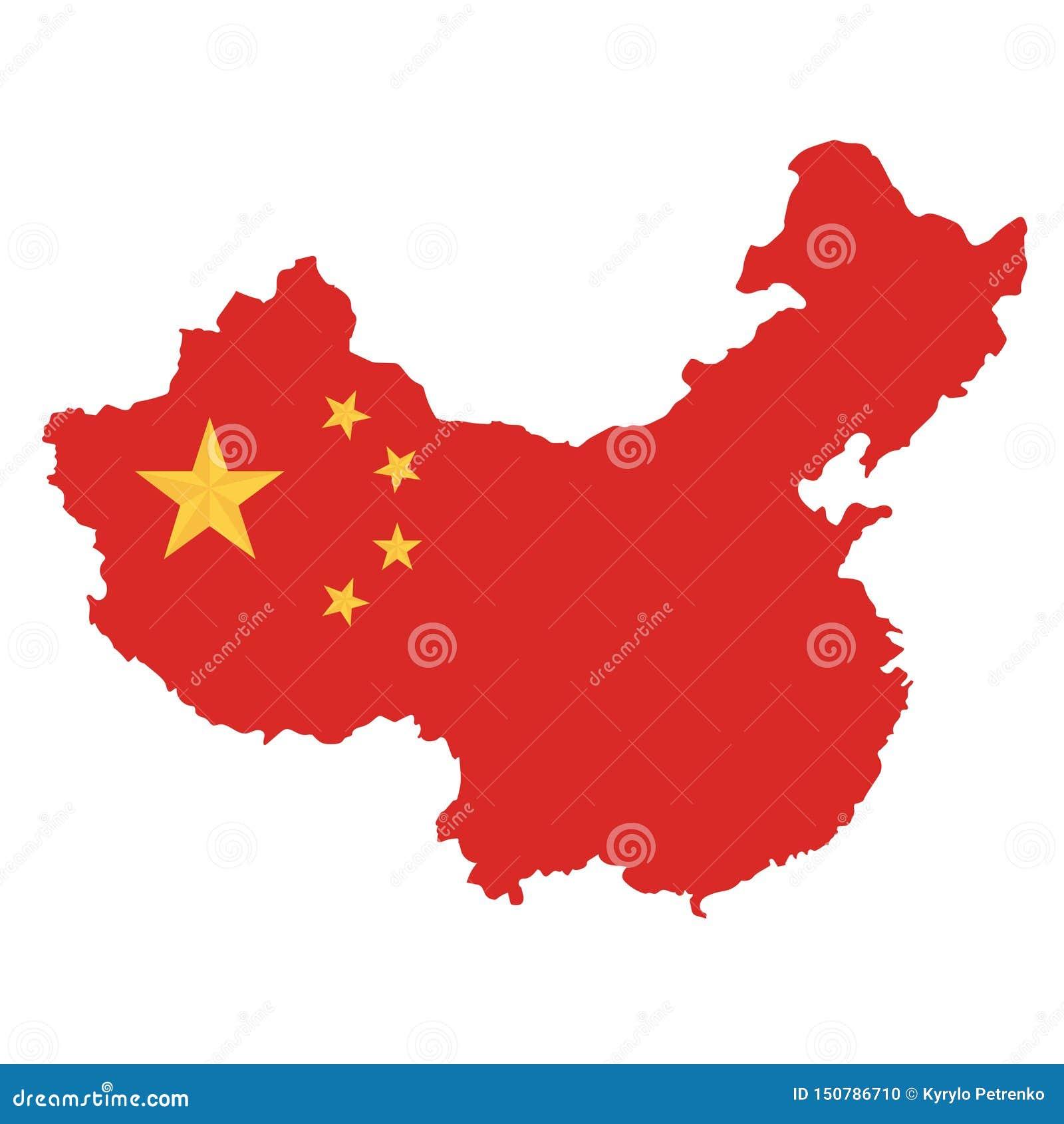 Vit bakgrund för Folkrepubliken Kina översikt