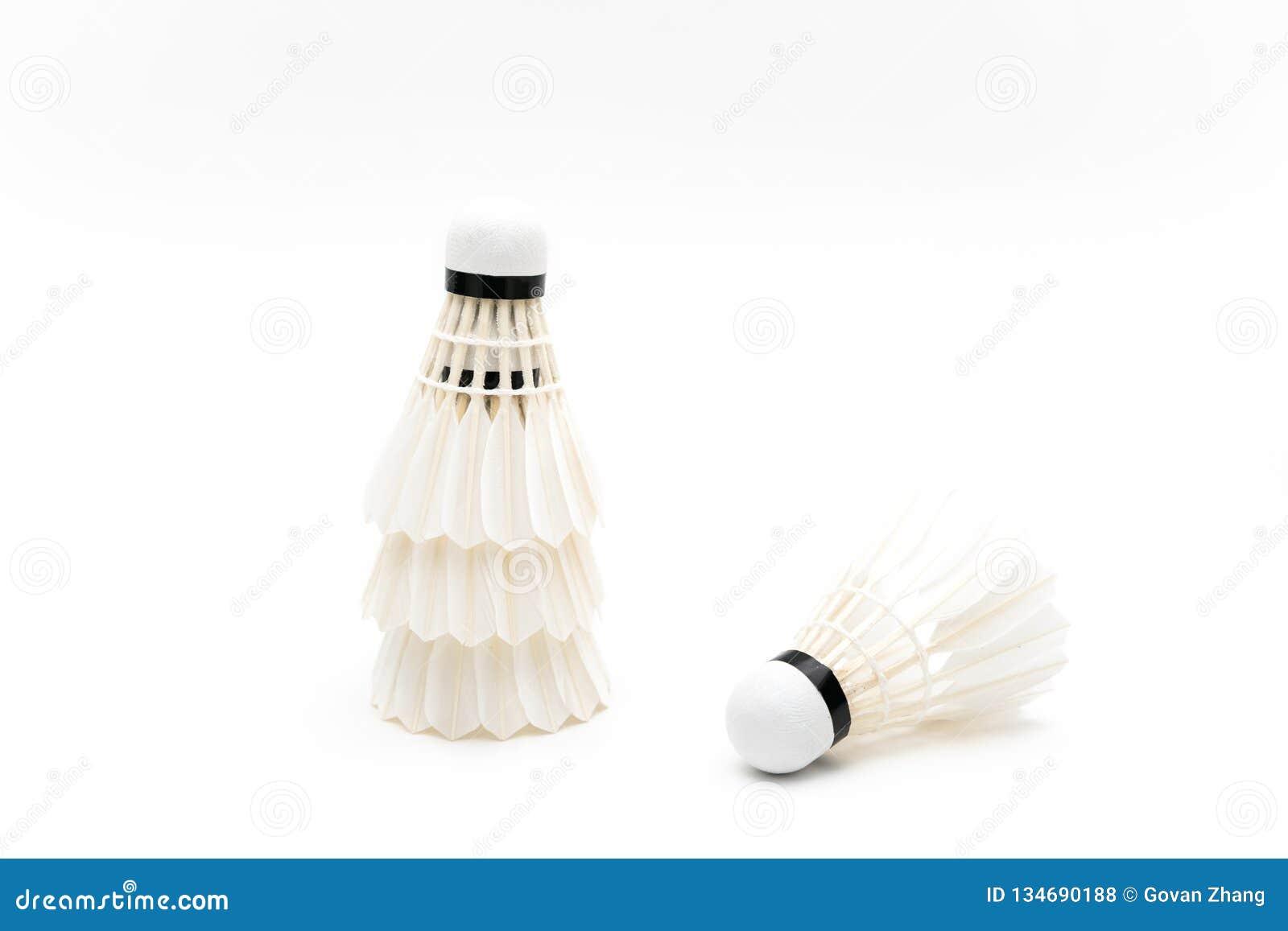 Vit bakgrundsöversikt av badminton