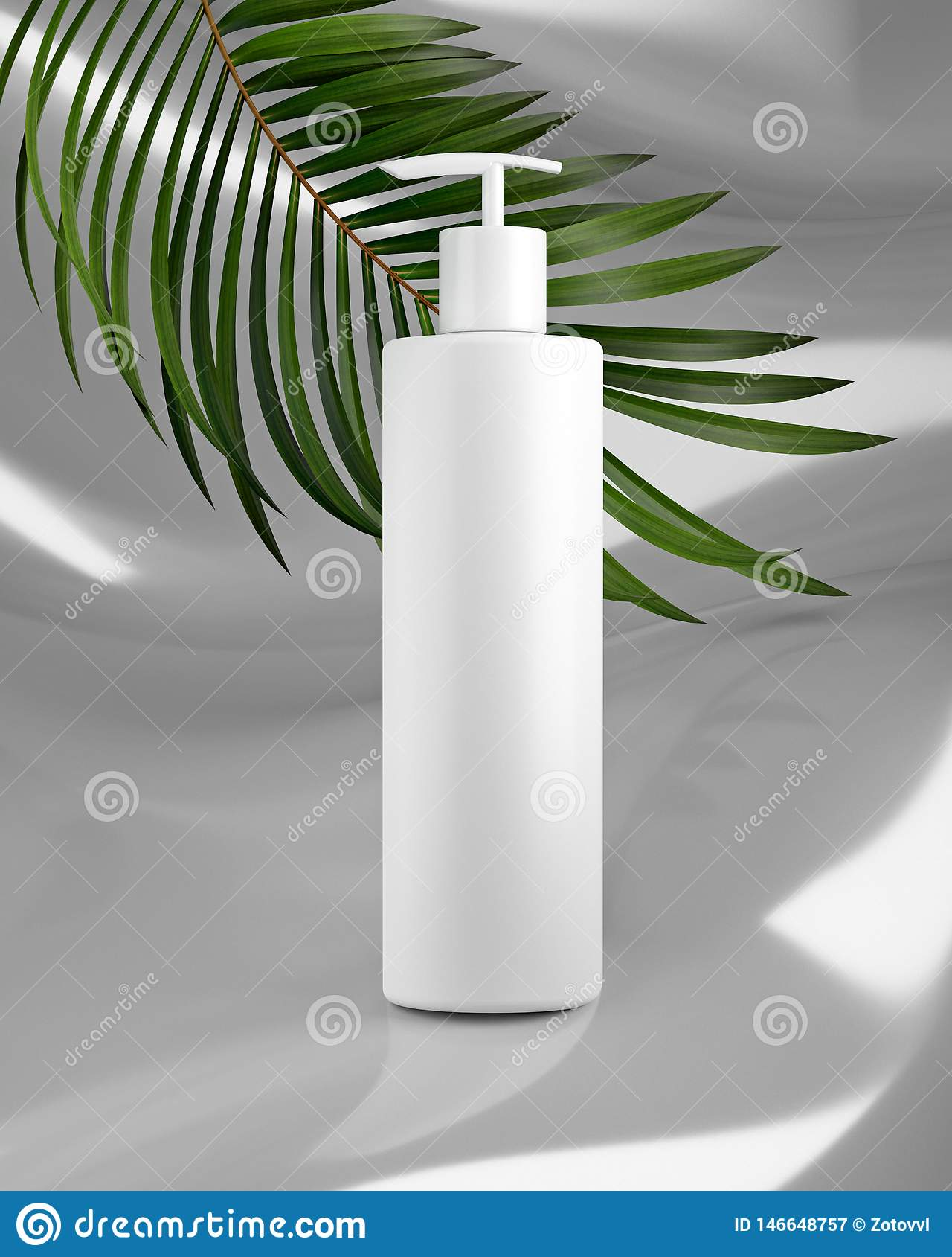 Vit design av naturlig kosmetisk kr?m, serum, tom flaska f?r skincare som f?rpackar med sida?rten, bio organisk produkt