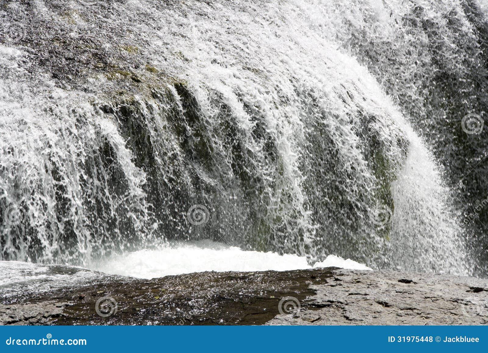 Vit för vatten för vattenfallnedgångvattenfall