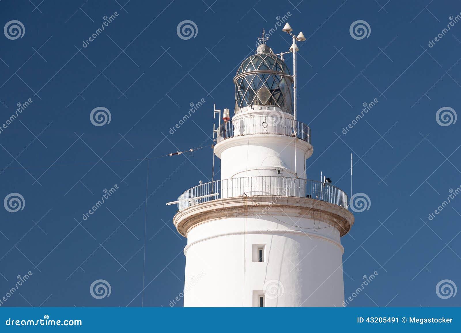 Download Vit fyr fotografering för bildbyråer. Bild av sight, kust - 43205491