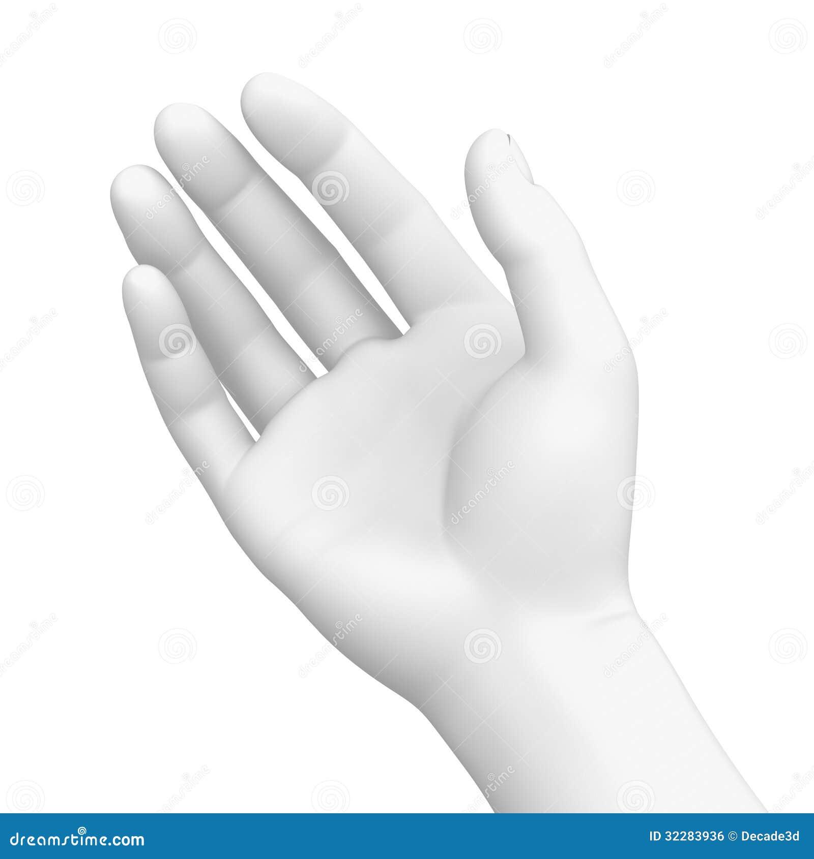 Vit hand