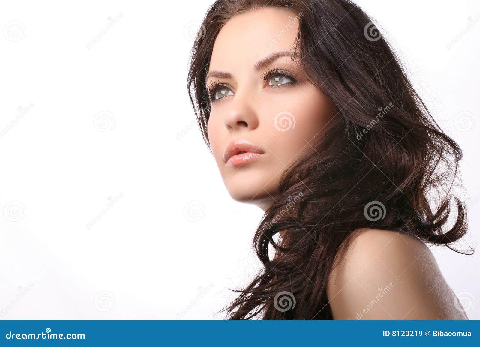 Vit kvinna