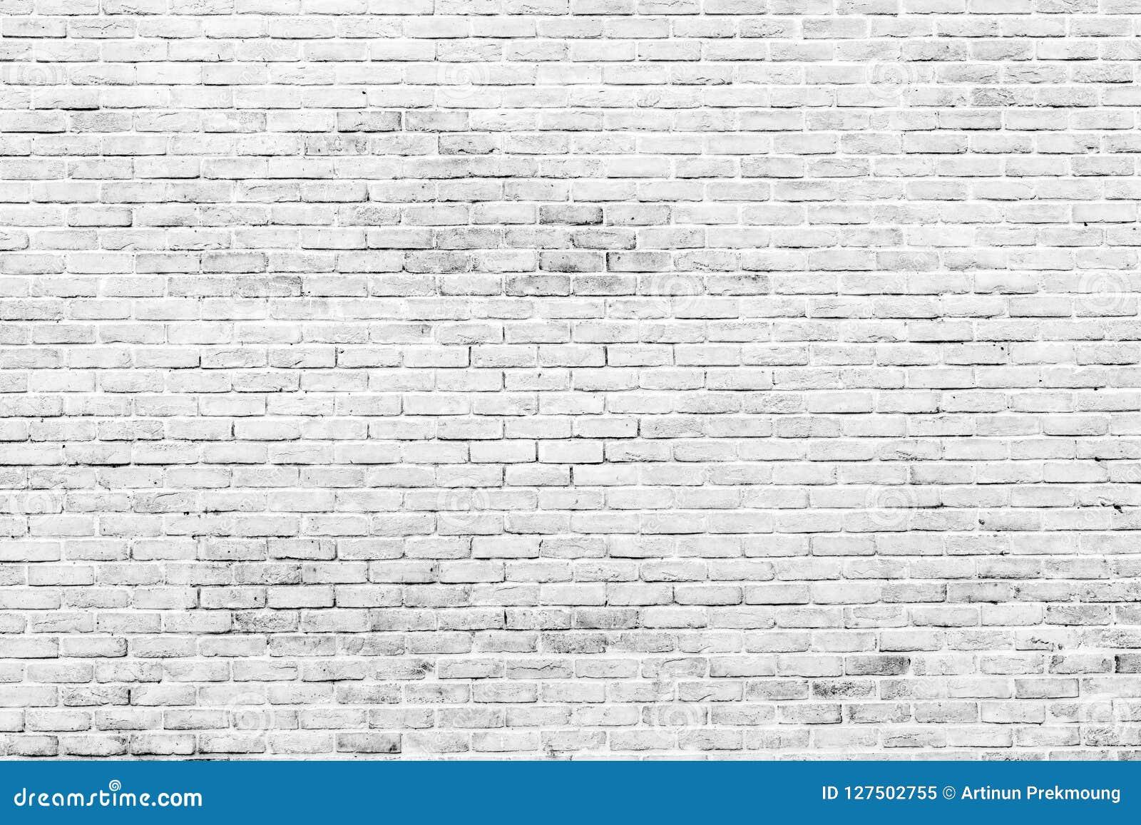 Vit och grå bakgrund för textur för tegelstenvägg med utrymme för text Vit tegelstentapet Hemmiljögarnering arkitektur