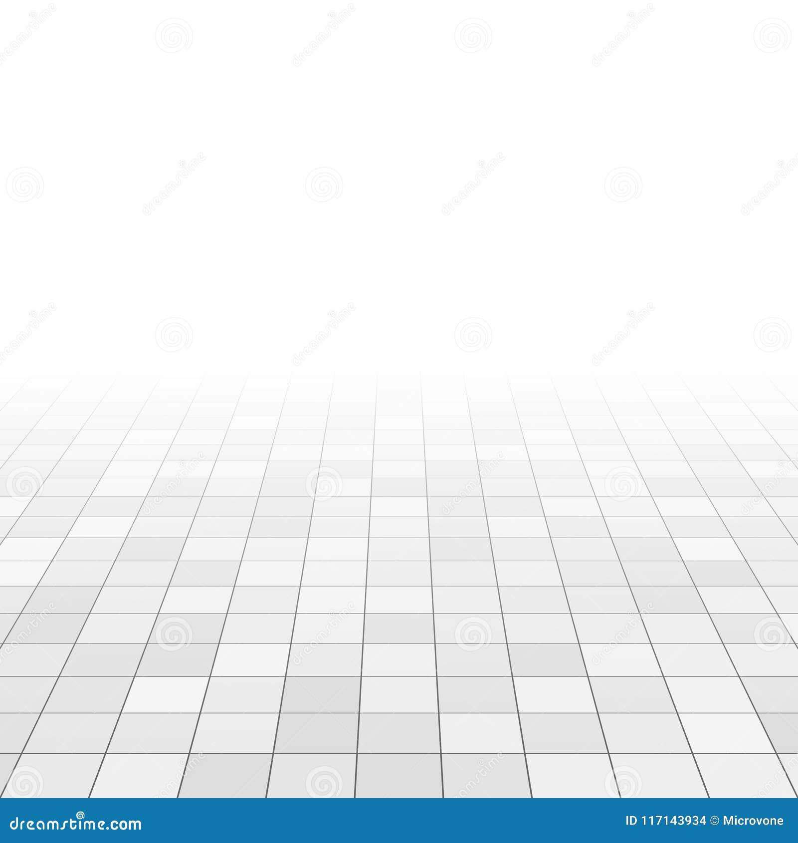 Vit och grå färger marmorerar tegelplattor på badrumgolv Rektangeltegelplattor i perspektivraster abstrakt bakgrundsvektor