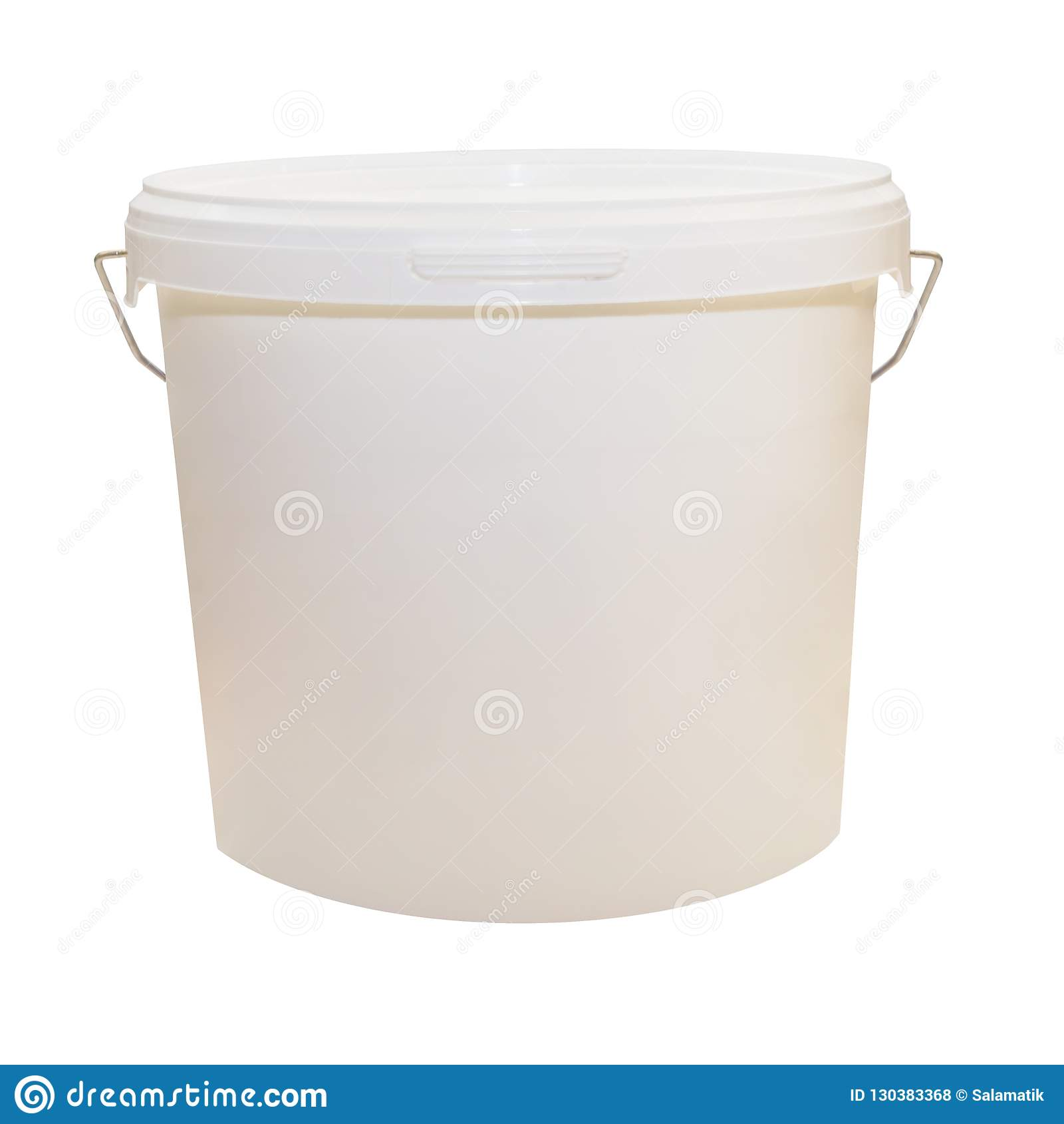 Vit Plast- Hink För Livsmedelsprodukter 39ae5ecd401ae