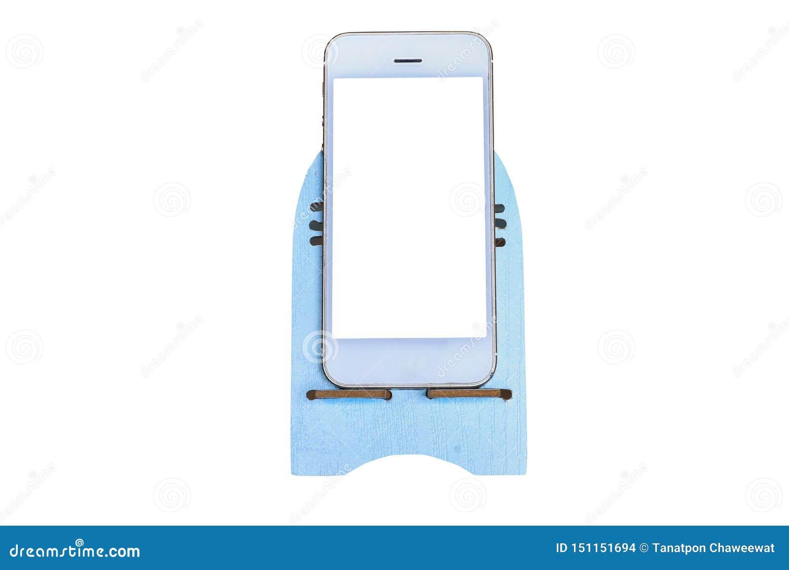 Vit smarthphone som isolerade på en vit bakgrund