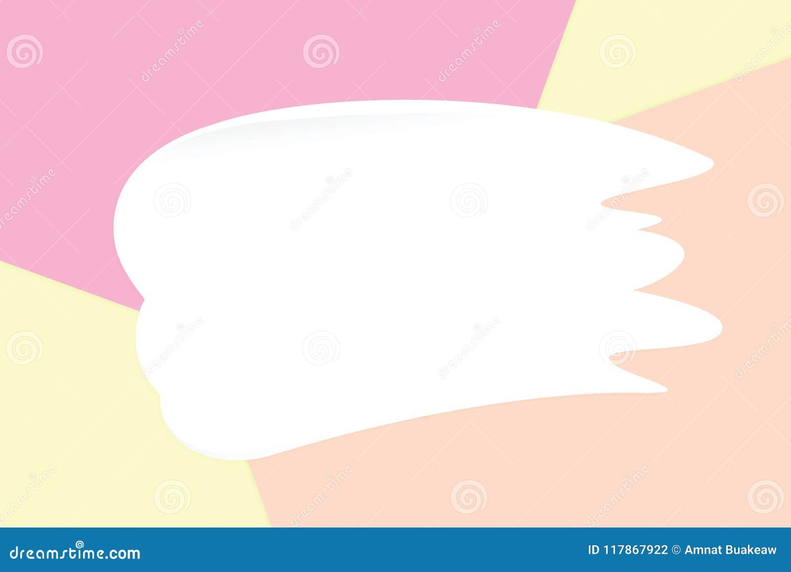Vit suddkräm på färgrika pastellfärgade mjuka pappers- bakgrundsskönhetsmedel för kopia gör mellanslag meddelandet, lekmanna- sti