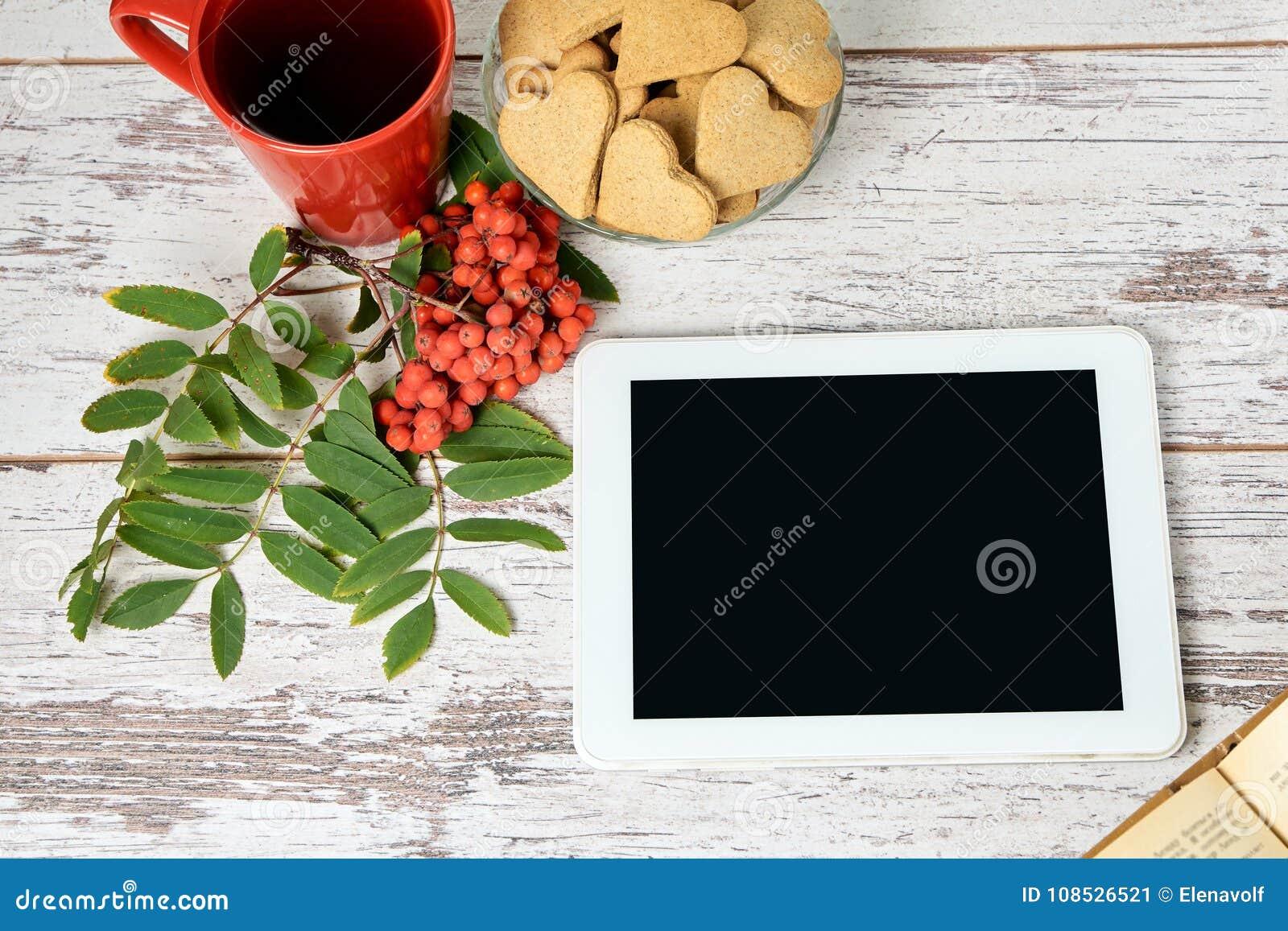 Vit tablet isolerad rönnwhite för bakgrund filial RÖTT CIRKLA Pappers- etikett på band Bok