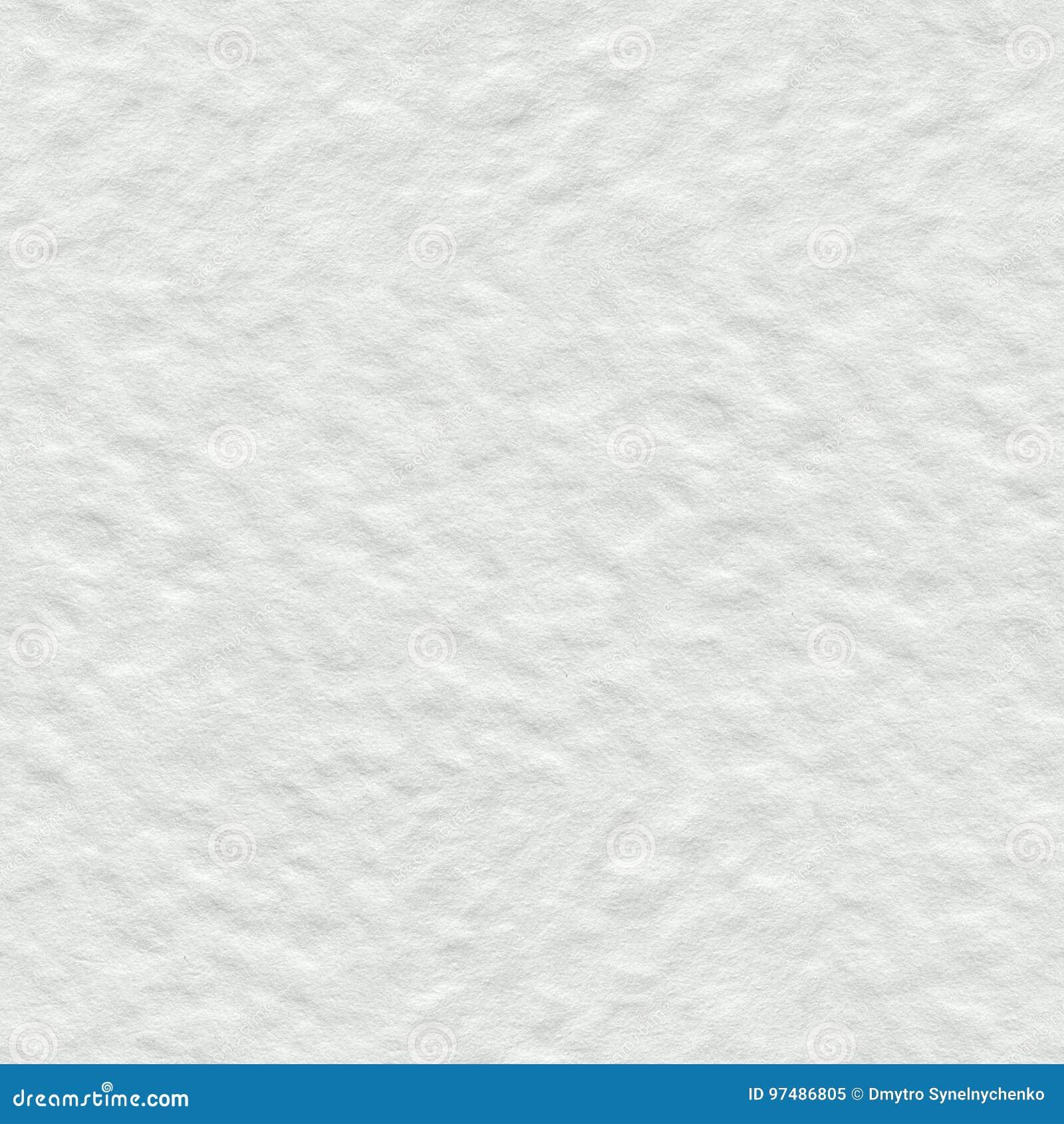 Vit vattenfärgpapperstextur Sömlös fyrkantig bakgrund, tegelplatta