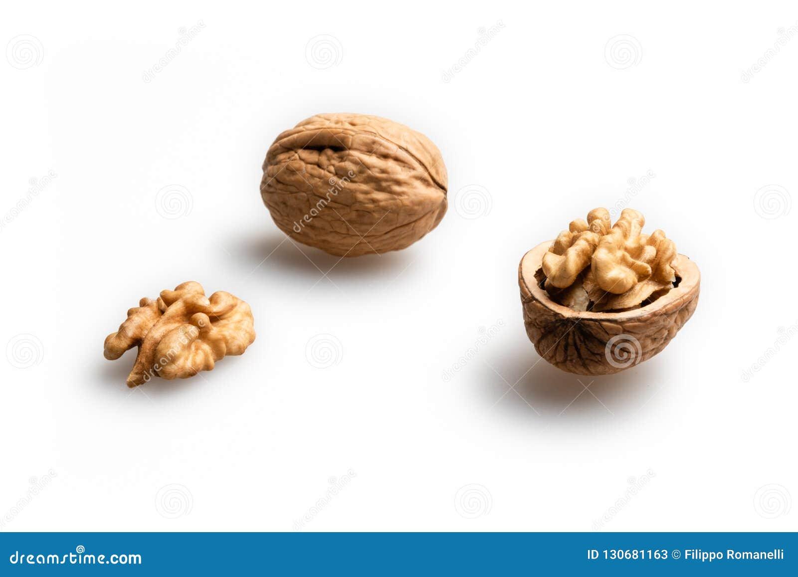Vita bakgrundsvalnötter