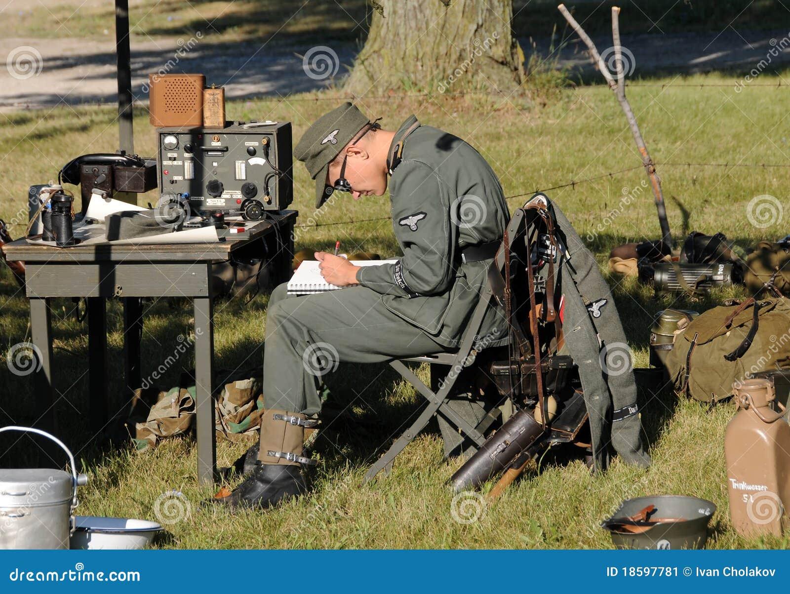Elicottero 2 Guerra Mondiale : Vita dell accampamento di era della seconda guerra