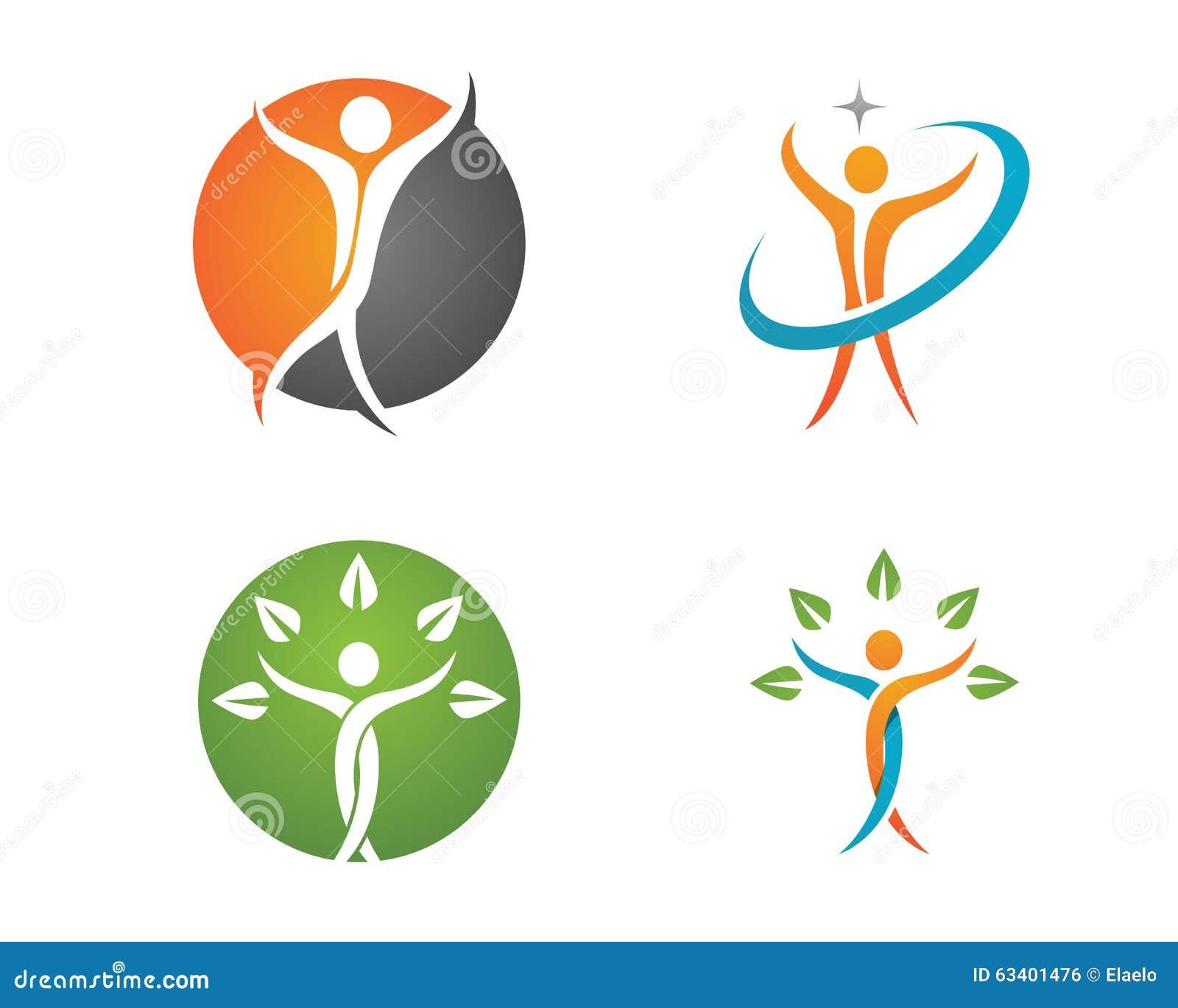 Vita di salute e logo di divertimento illustrazione - Pagine di ringraziamento e divertimento ...