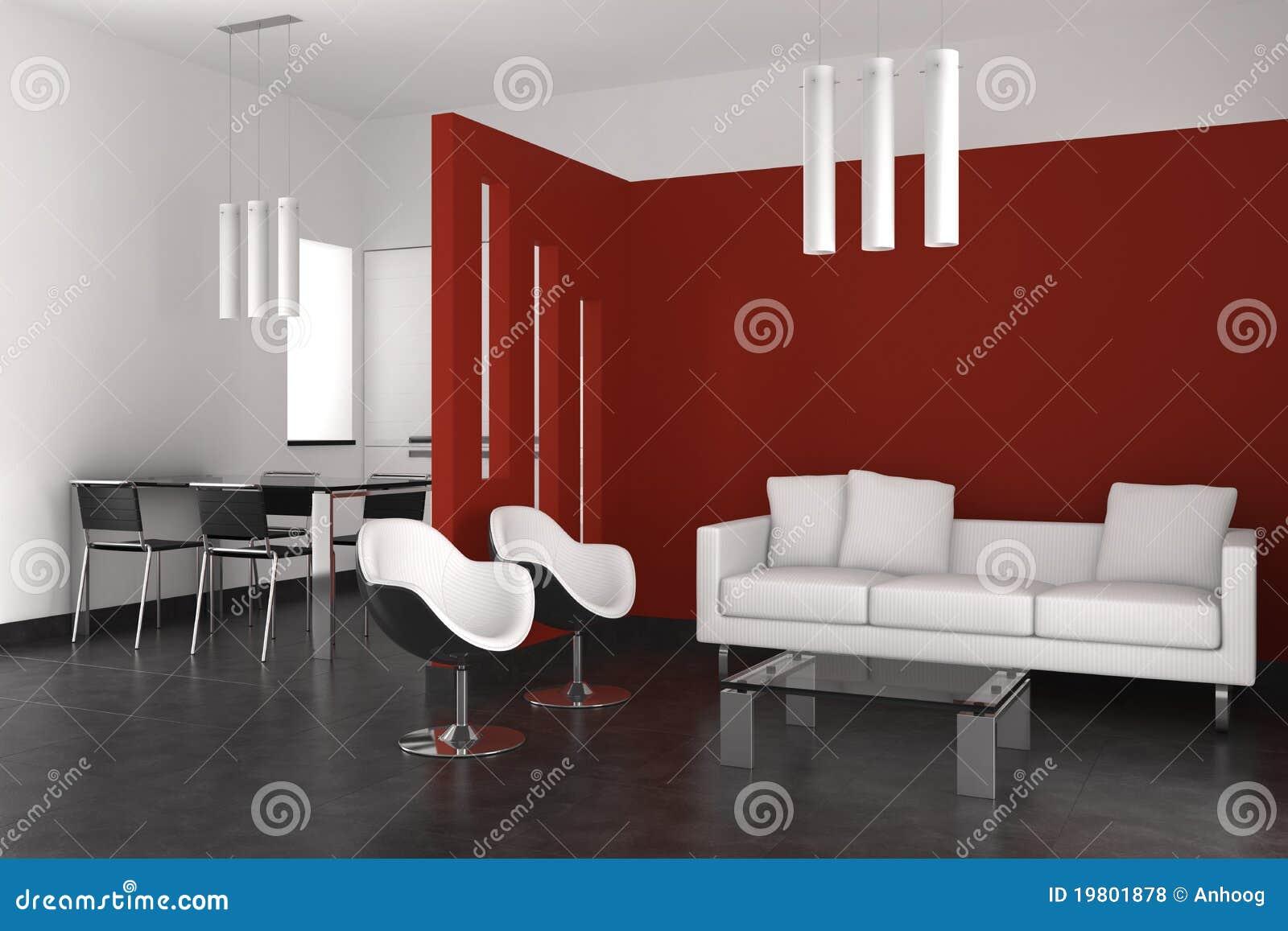 Vita e sala da pranzo moderne con la cucina illustrazione for Cucina con sala da pranzo
