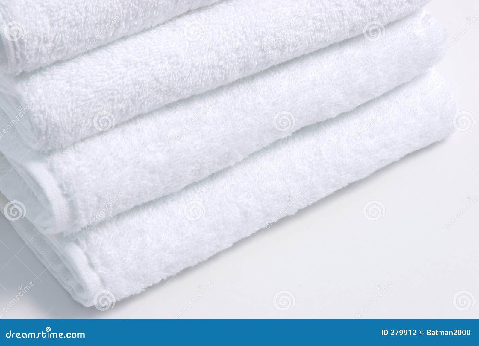 Vita handdukar