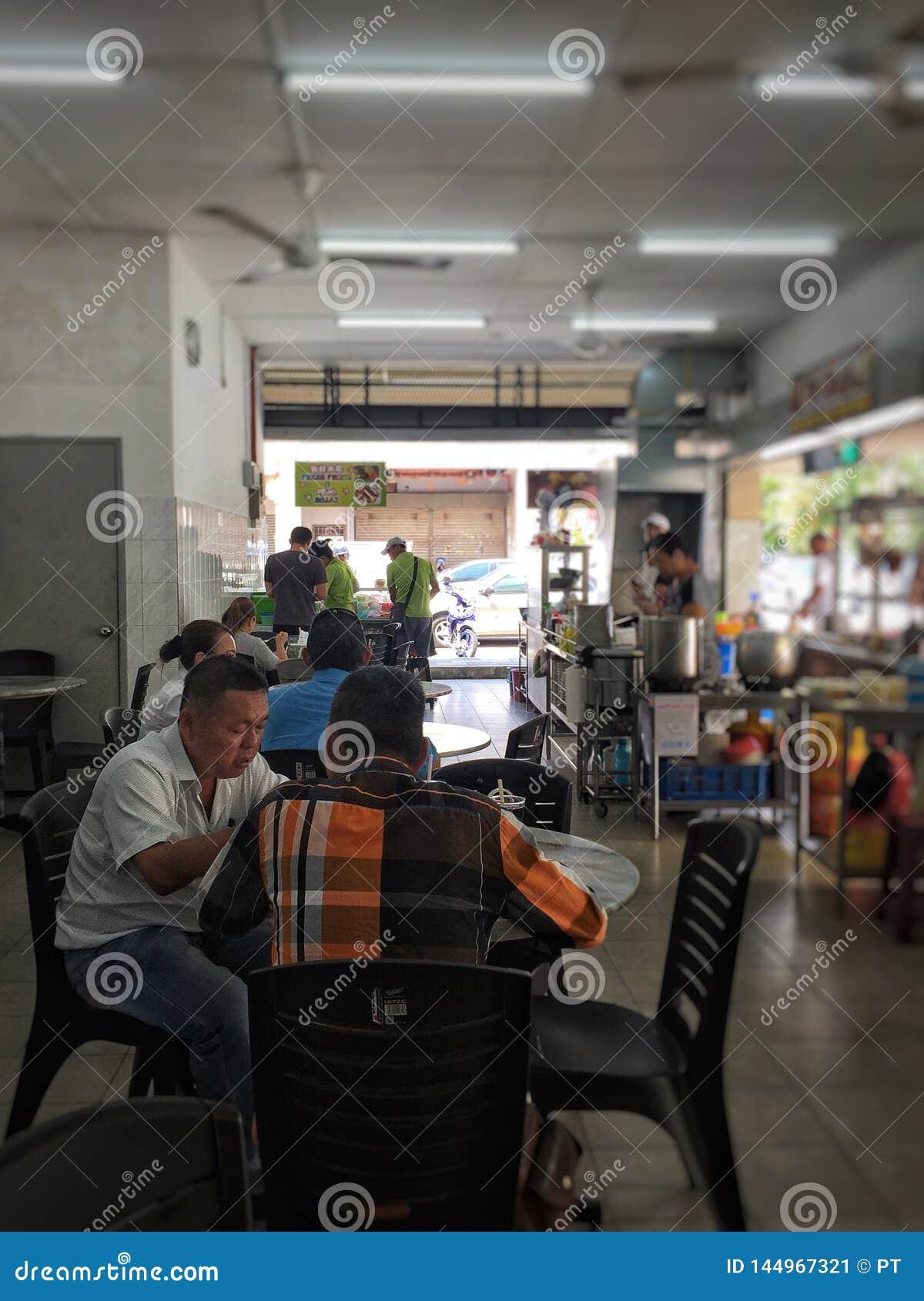 Vita quotidiana nella città di Ipoh, ristorante tipico agire in tal modo così