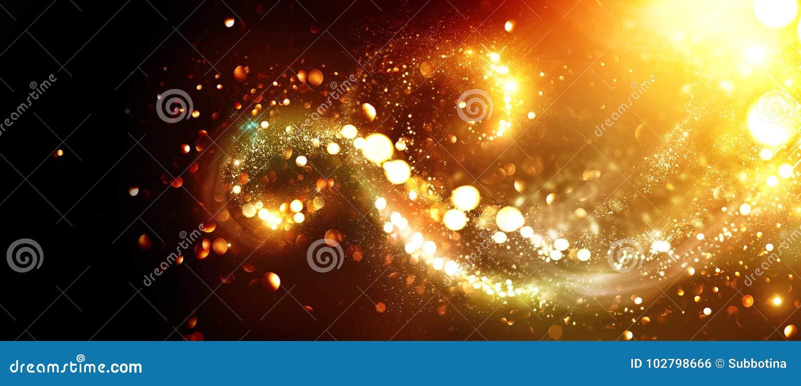Vita röda stjärnor för abstrakt för bakgrundsjul mörk för garnering modell för design Guld- blänka stjärnavirvlar
