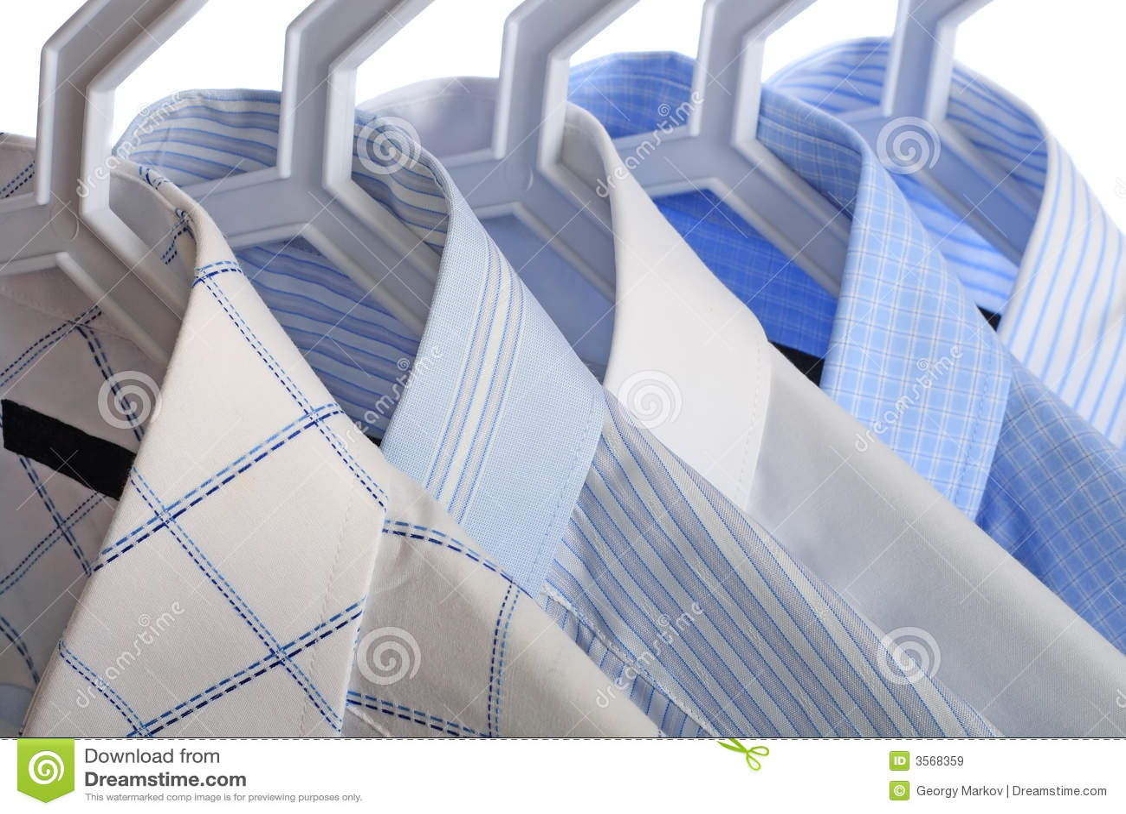 Vita skjortor för blue fem