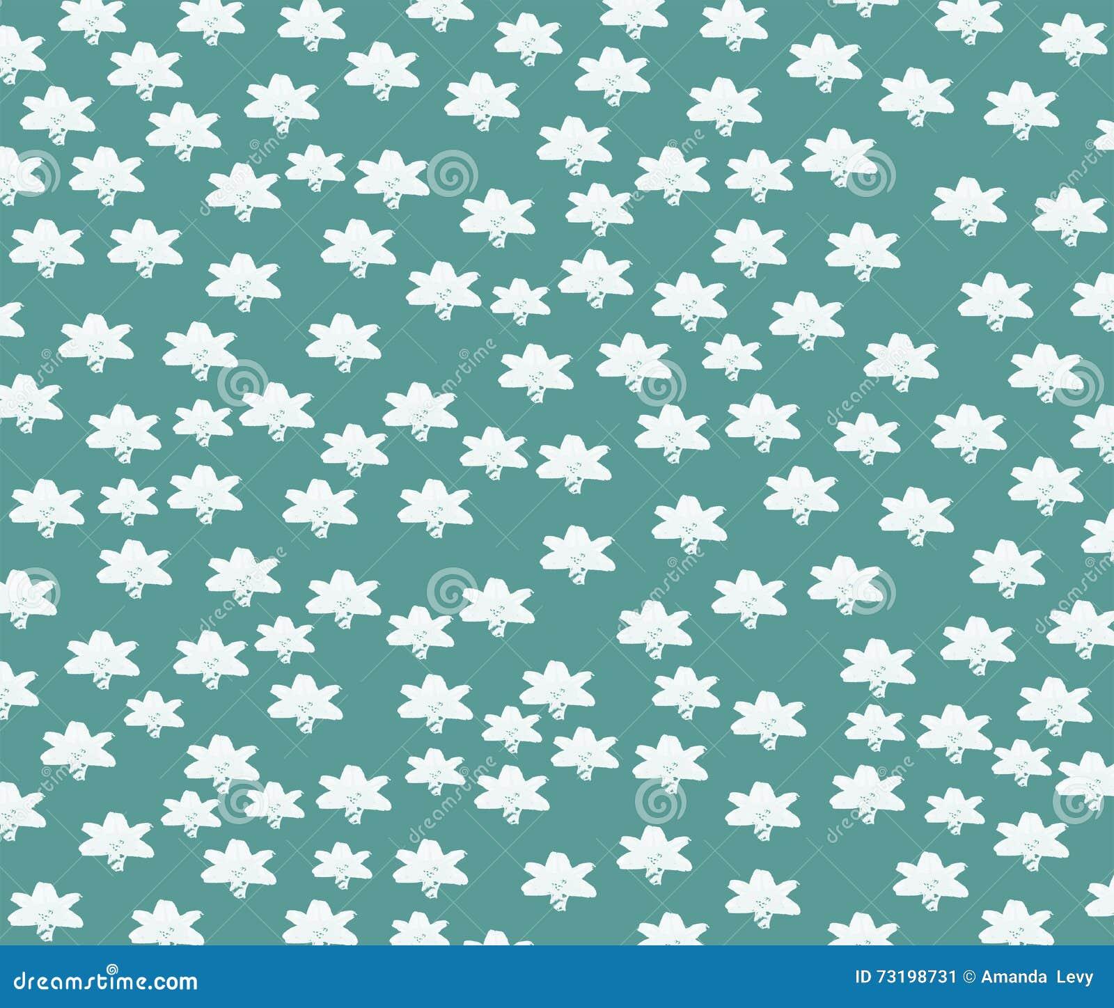 Vita stjärnor på en turkosbakgrund