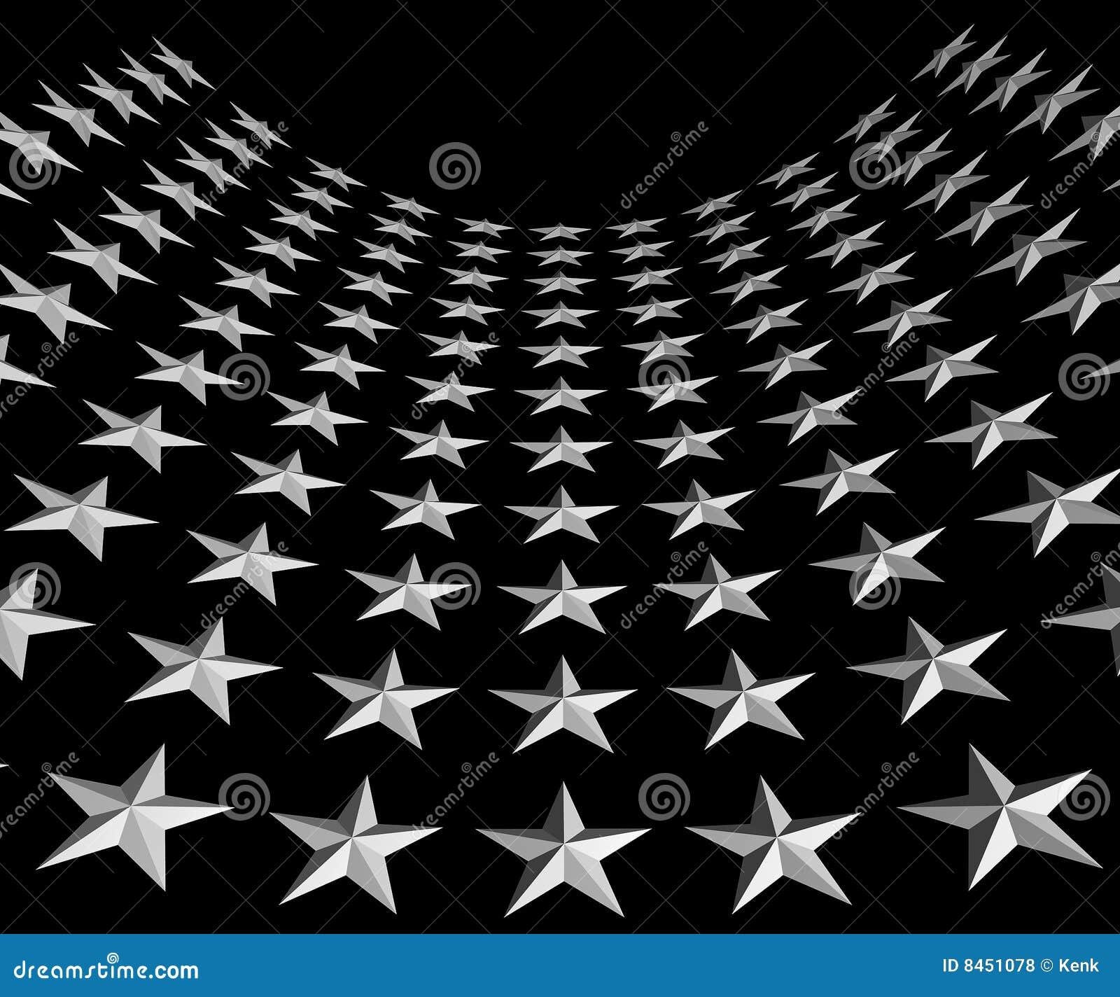Vita svarta stjärnor för bakgrund