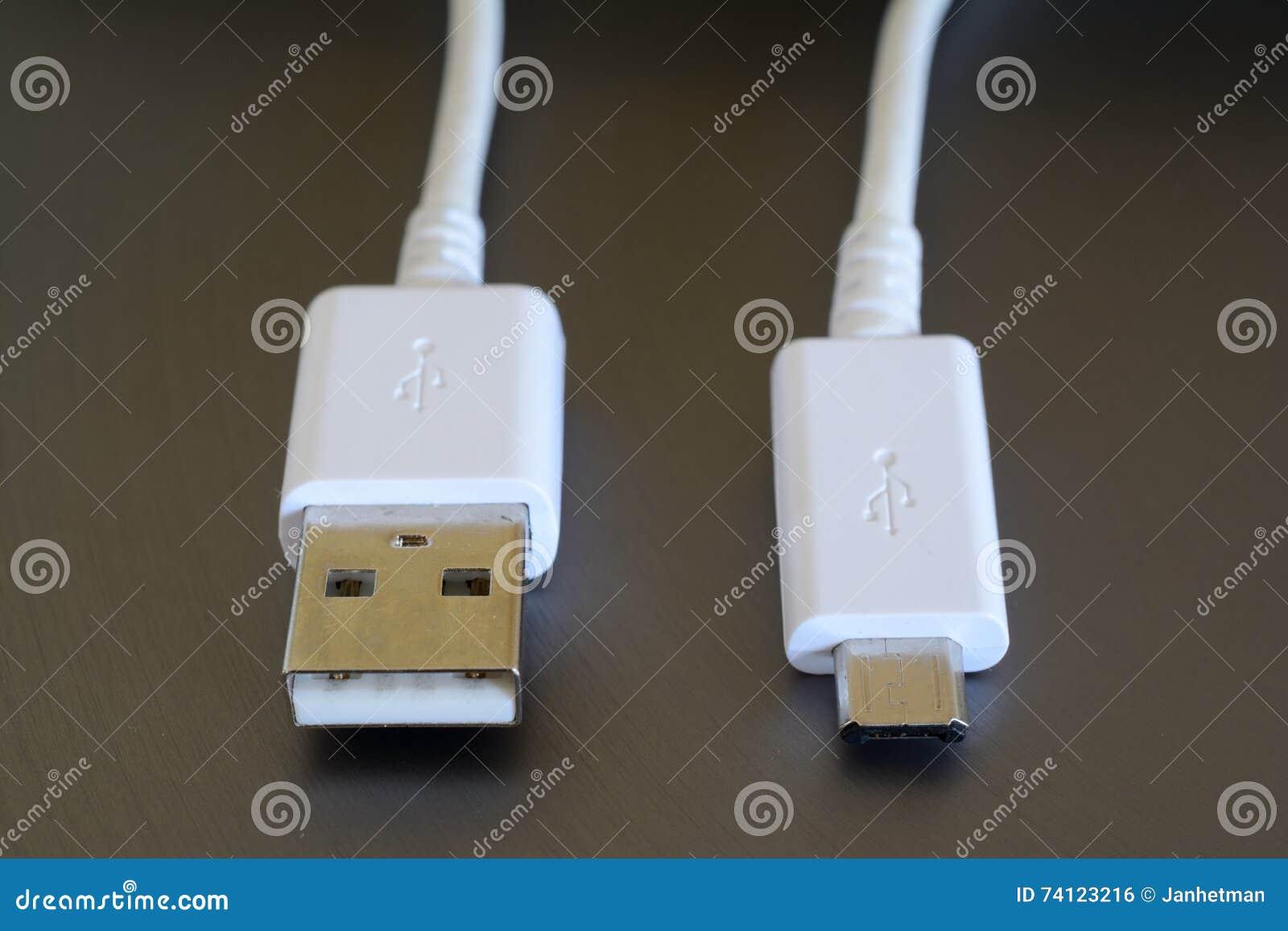 Vita USB och mikroUSB proppar