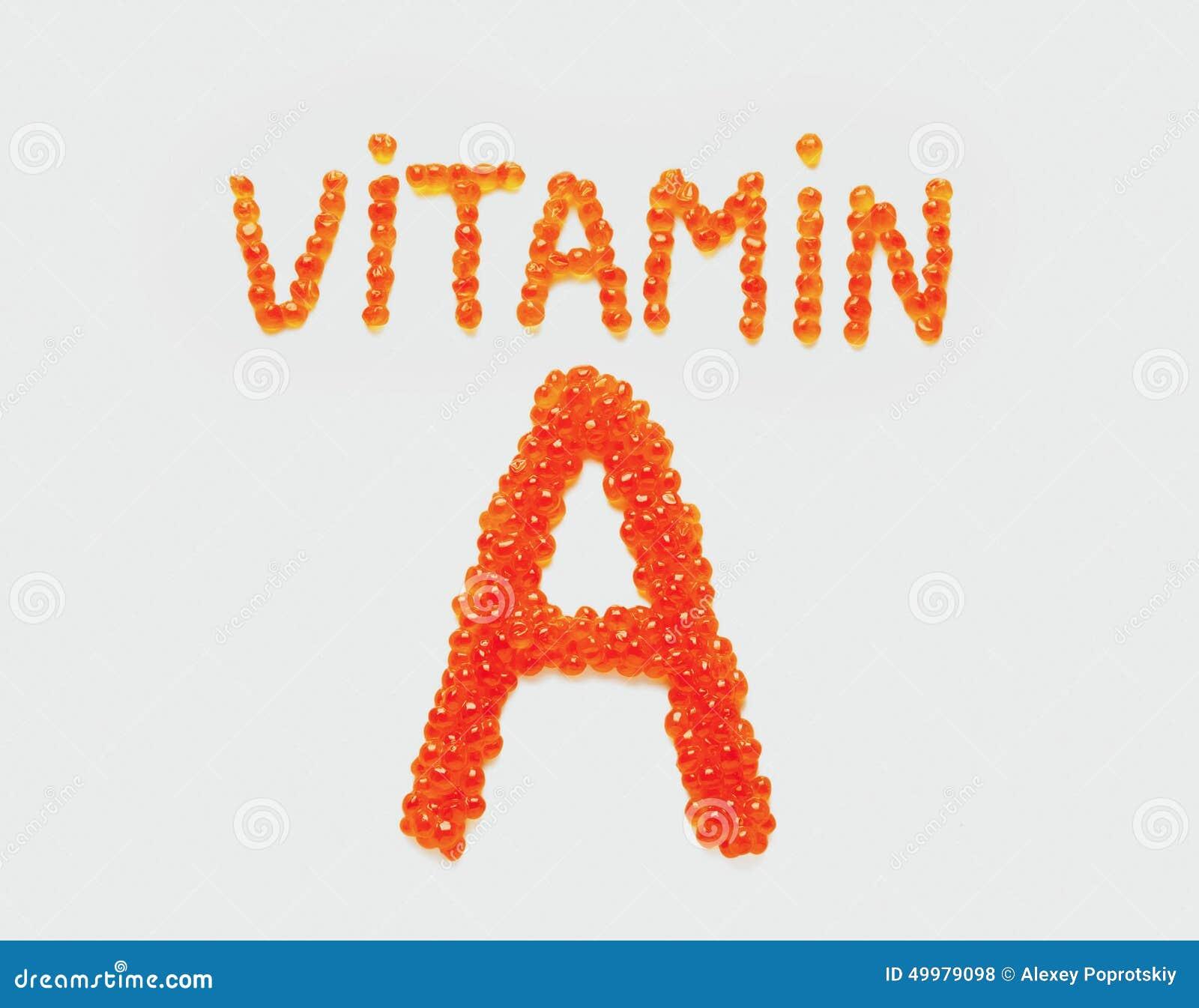 Vitamin A av den röda kaviaren