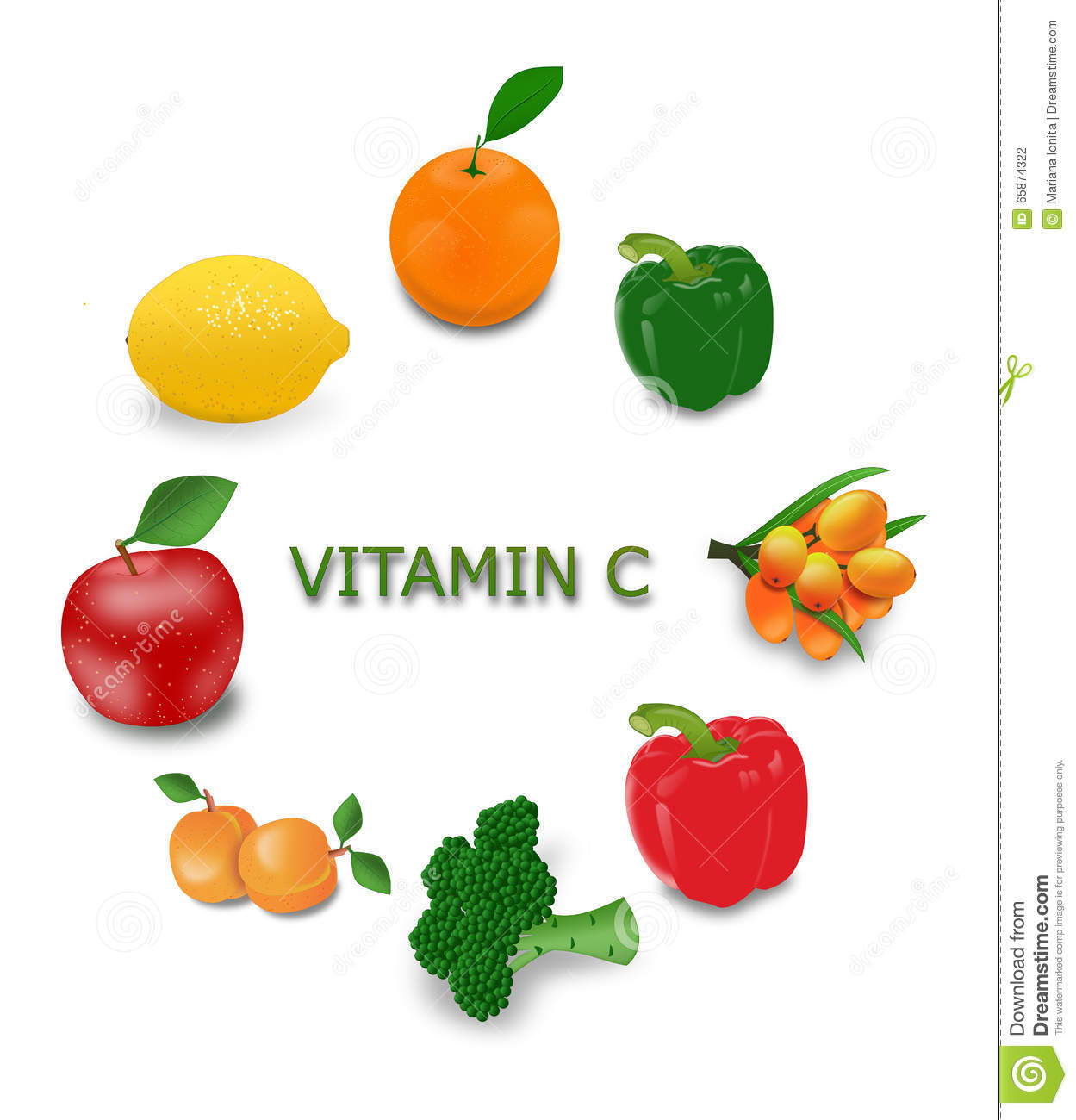 stock photography vitamin c sources image 65874322