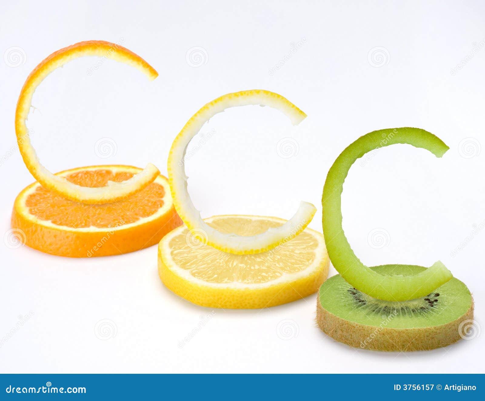 Vitamin C trägt horizontal Früchte