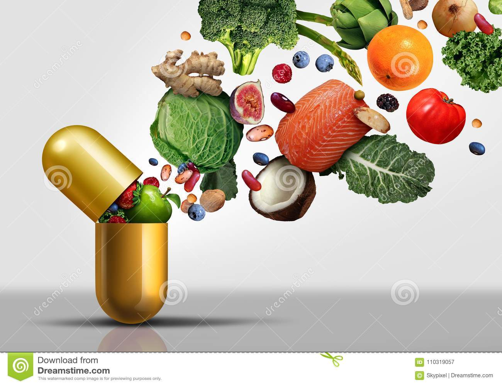 Vitamin-Ergänzungs-Symbol